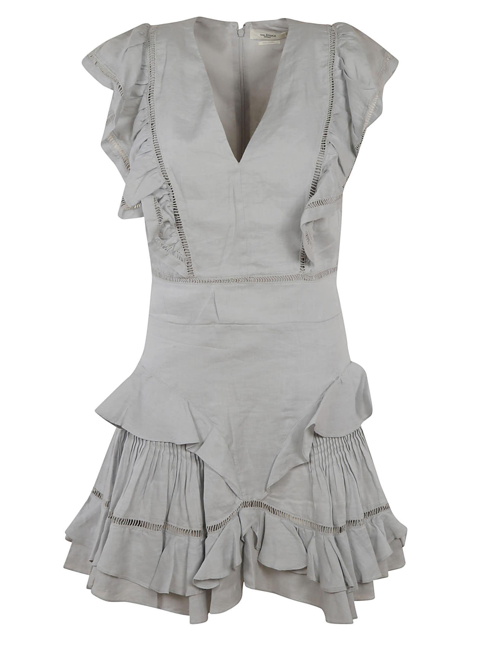 Buy Isabel Marant Mid-length Ruffled Dress online, shop Isabel Marant with free shipping