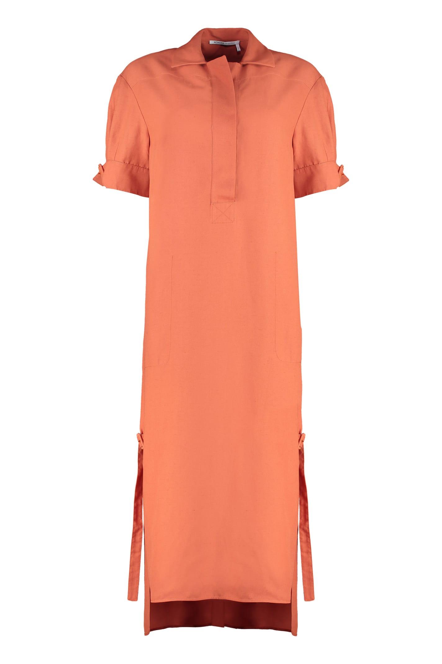 Buy Agnona Linen-blend Tunic-dress online, shop Agnona with free shipping