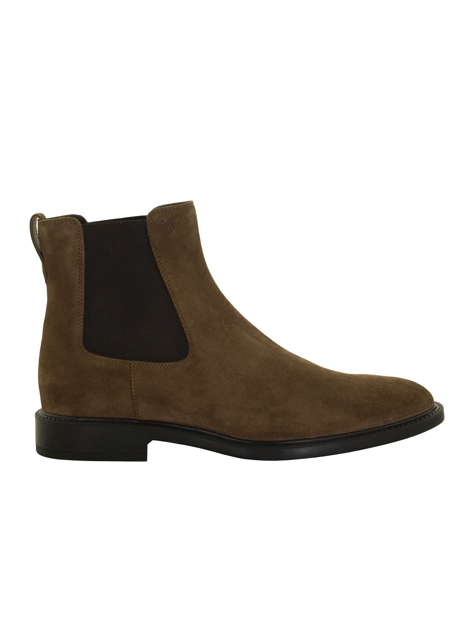 Tods Suede Leather Ankle Boot