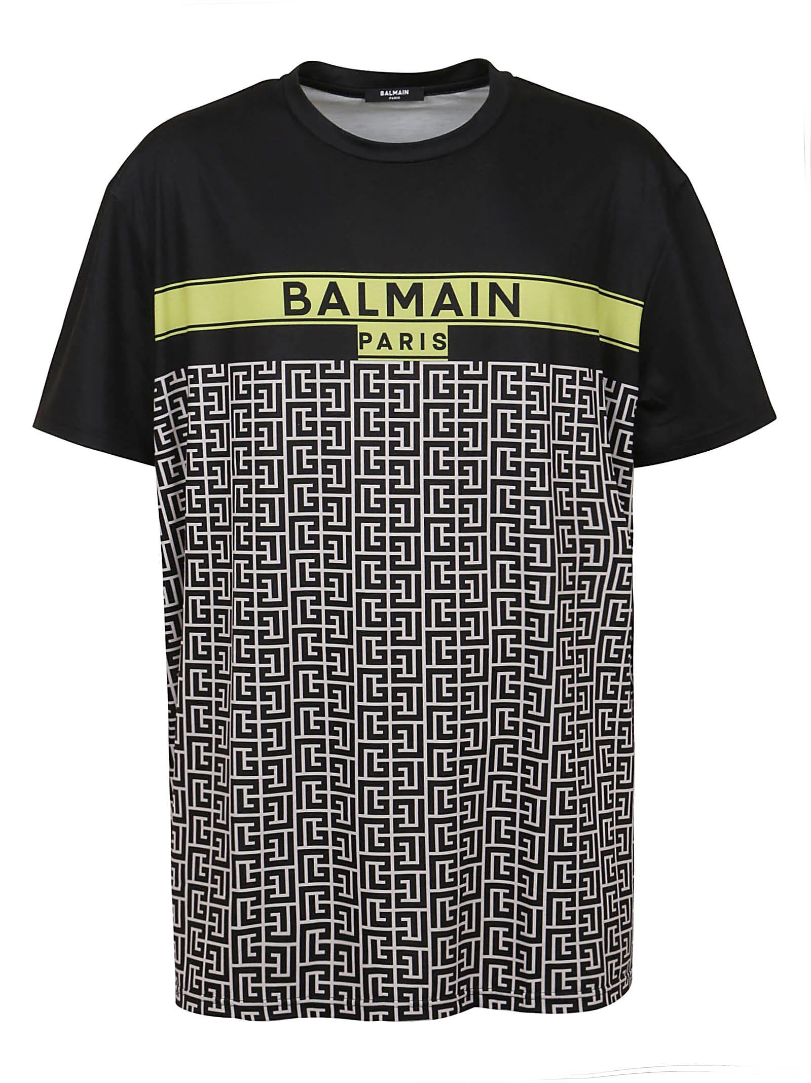 Balmain OVERSIZED PRINTED T-SHIRT