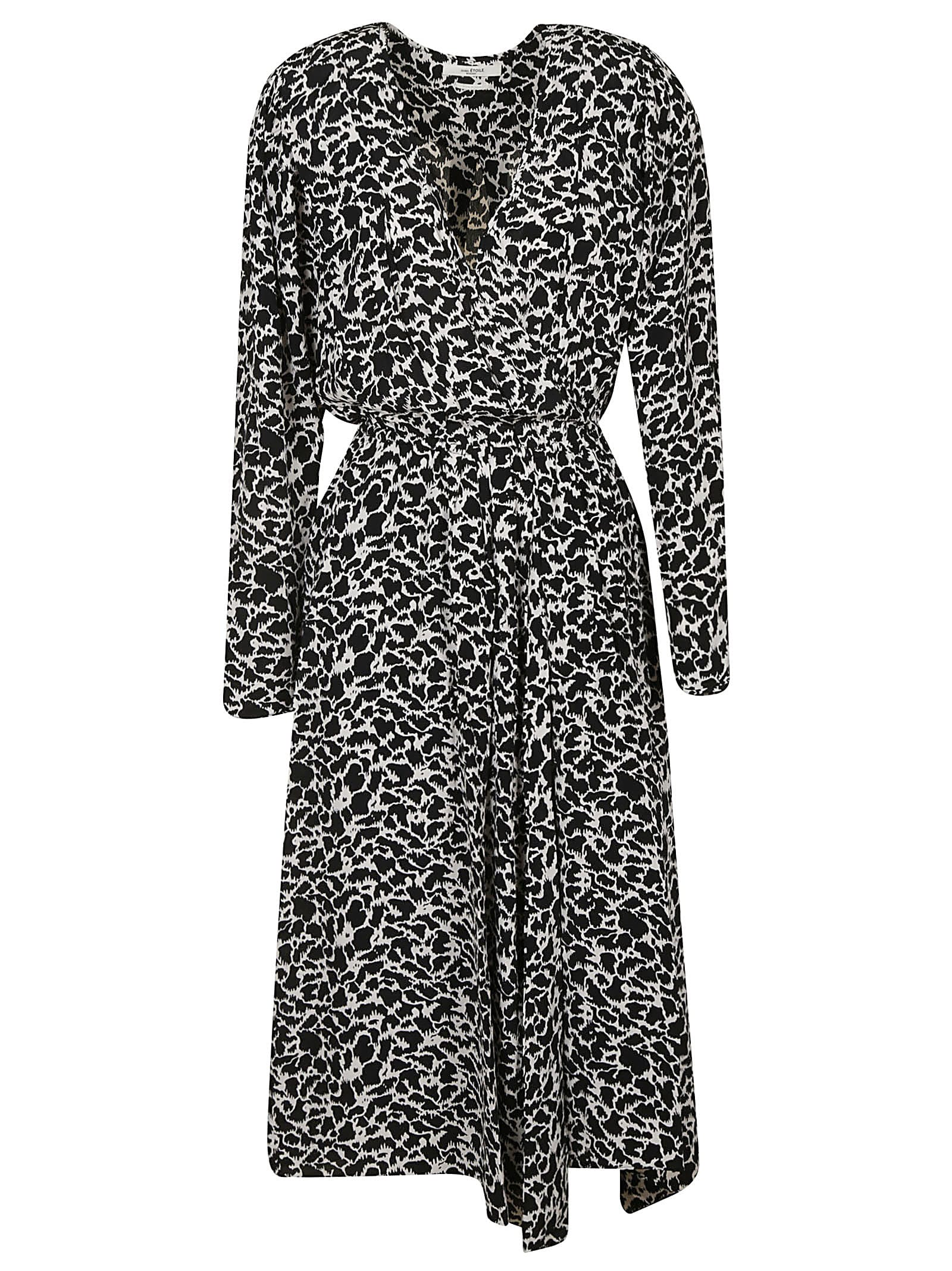 Isabel Marant V-neck Printed Long Dress