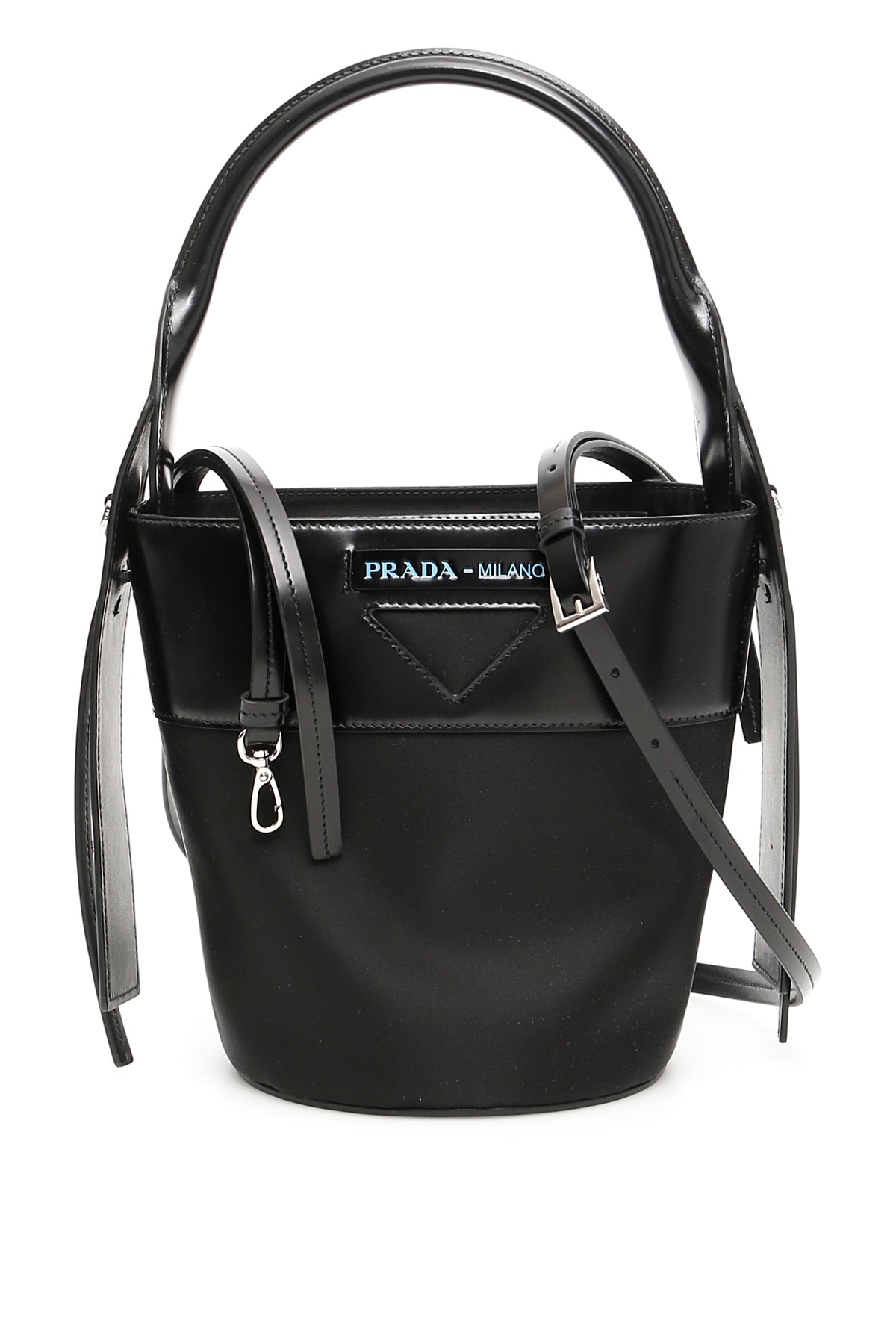 578449195d Prada Nylon And Leather Ouverture Bucket Bag