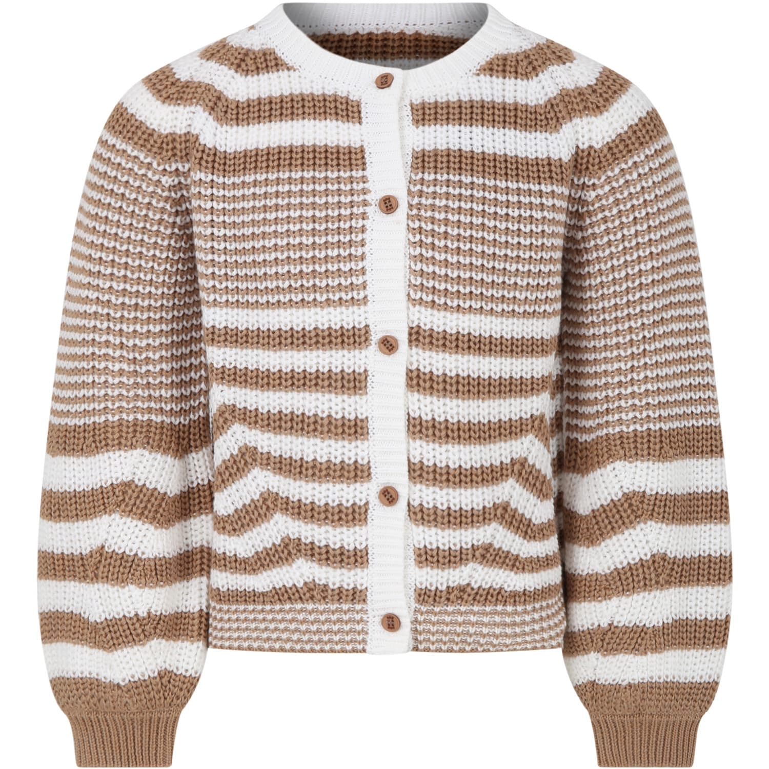 Douuod MULTICOLOR CARDIGAN FOR GIRL WITH STRIPES