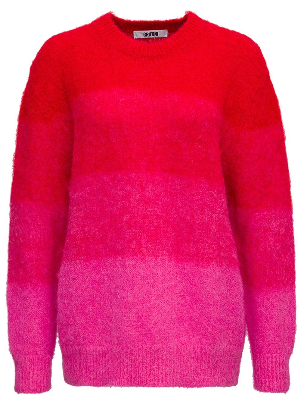 Degradé Bicolor Mohair Sweater
