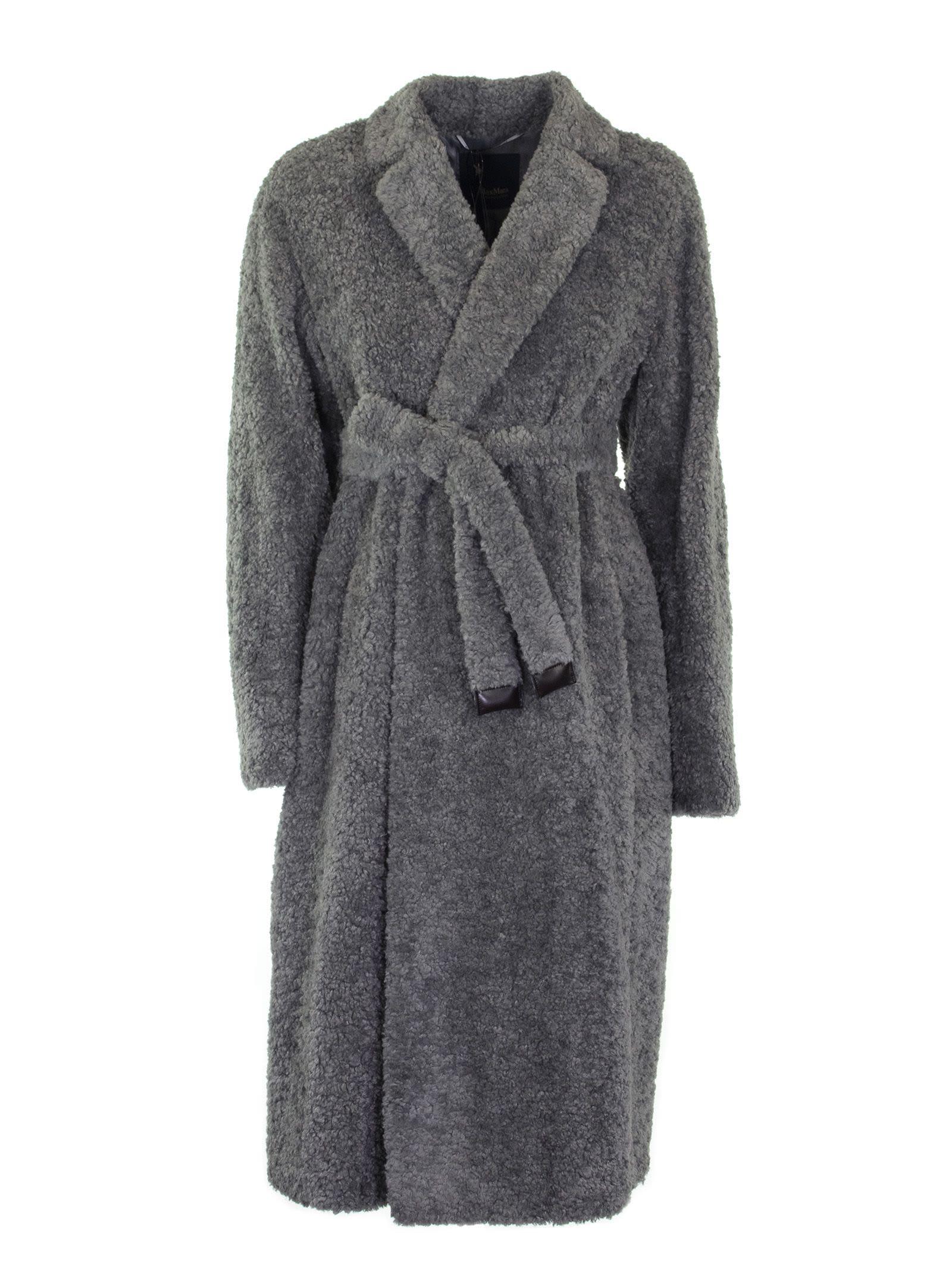 Max Mara Grey Teddy Bear Coat
