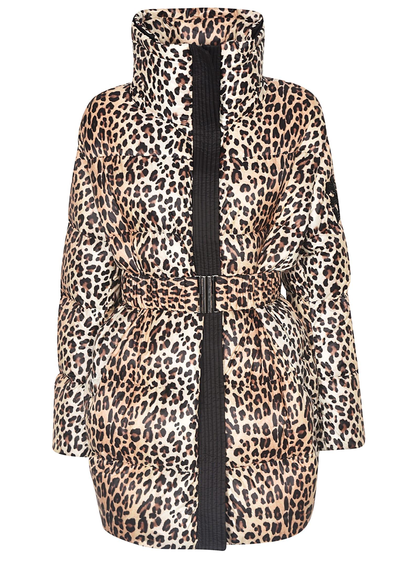 Ermanno Scervino Leopard Print Belted Jacket