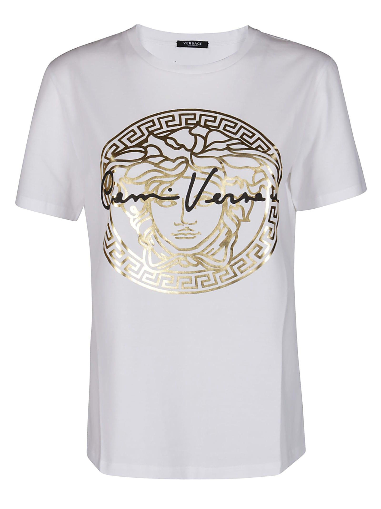 Versace White Cotton T-shirt