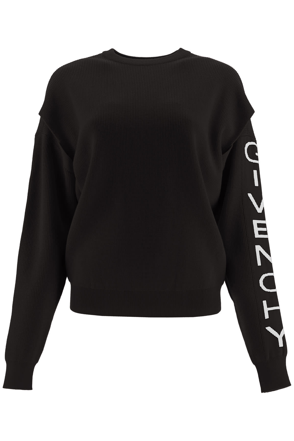 Givenchy MICRO RIBBED SWEATER WITH LOGO