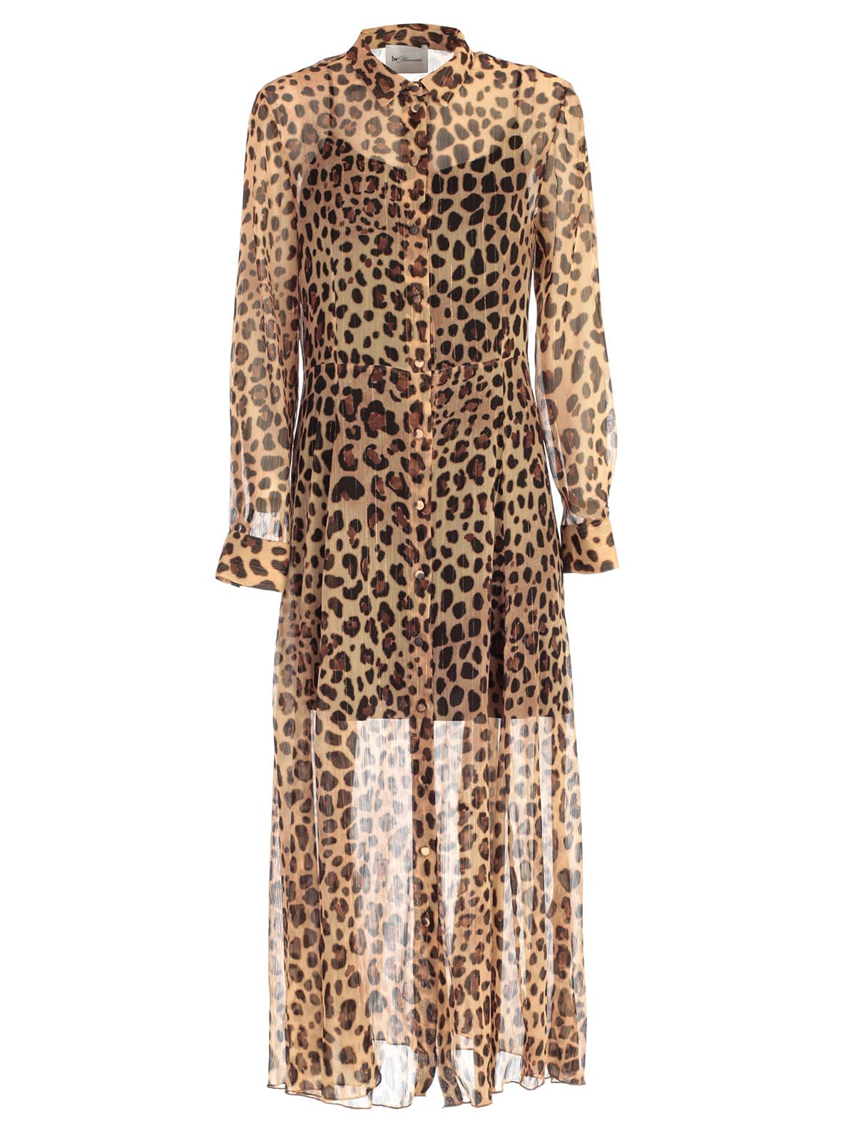 Be Blumarine Dress L & s Chemisier Animalier