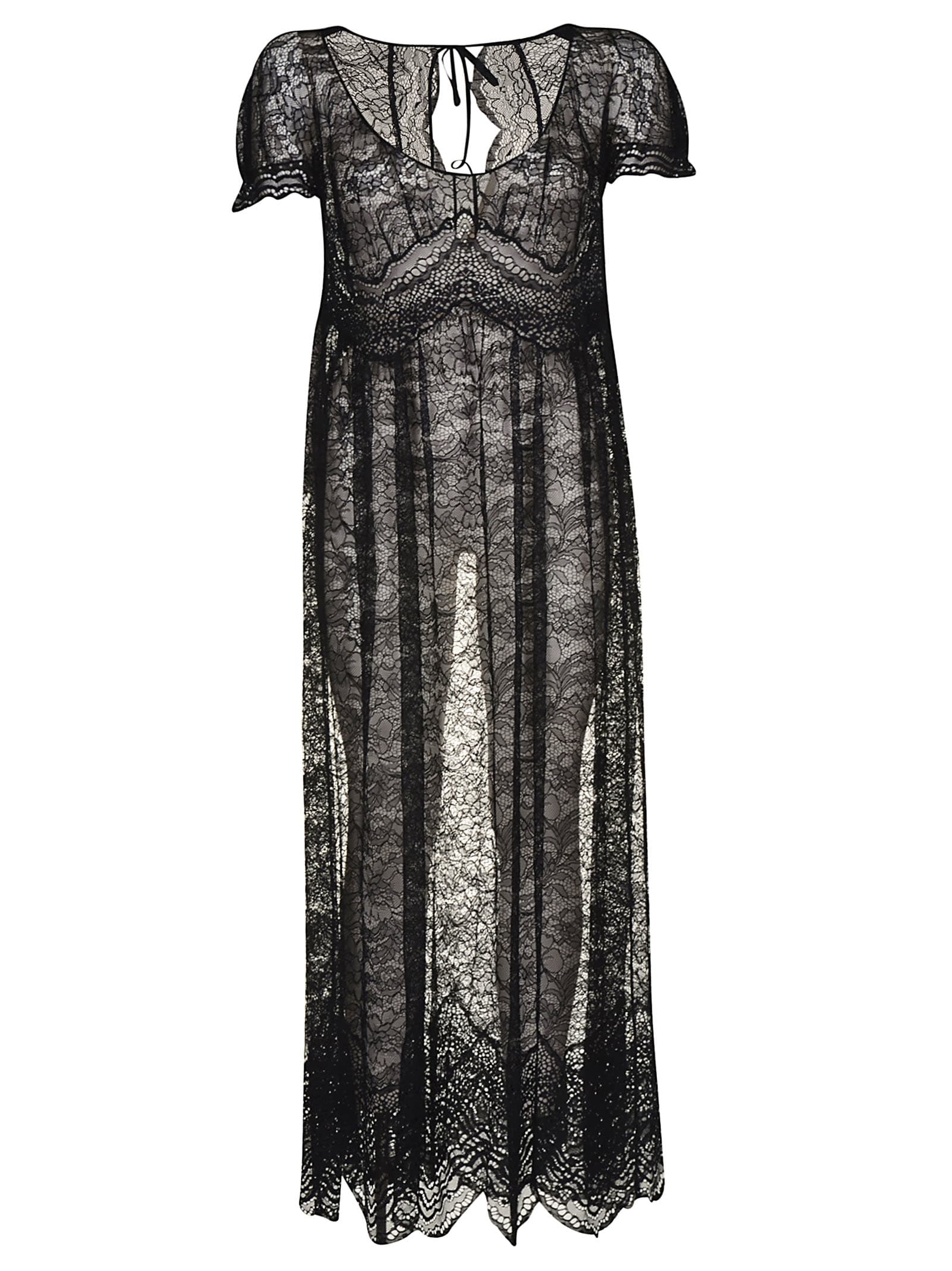 Buy Paco Rabanne Laced All-over Maxi Dress online, shop Paco Rabanne with free shipping