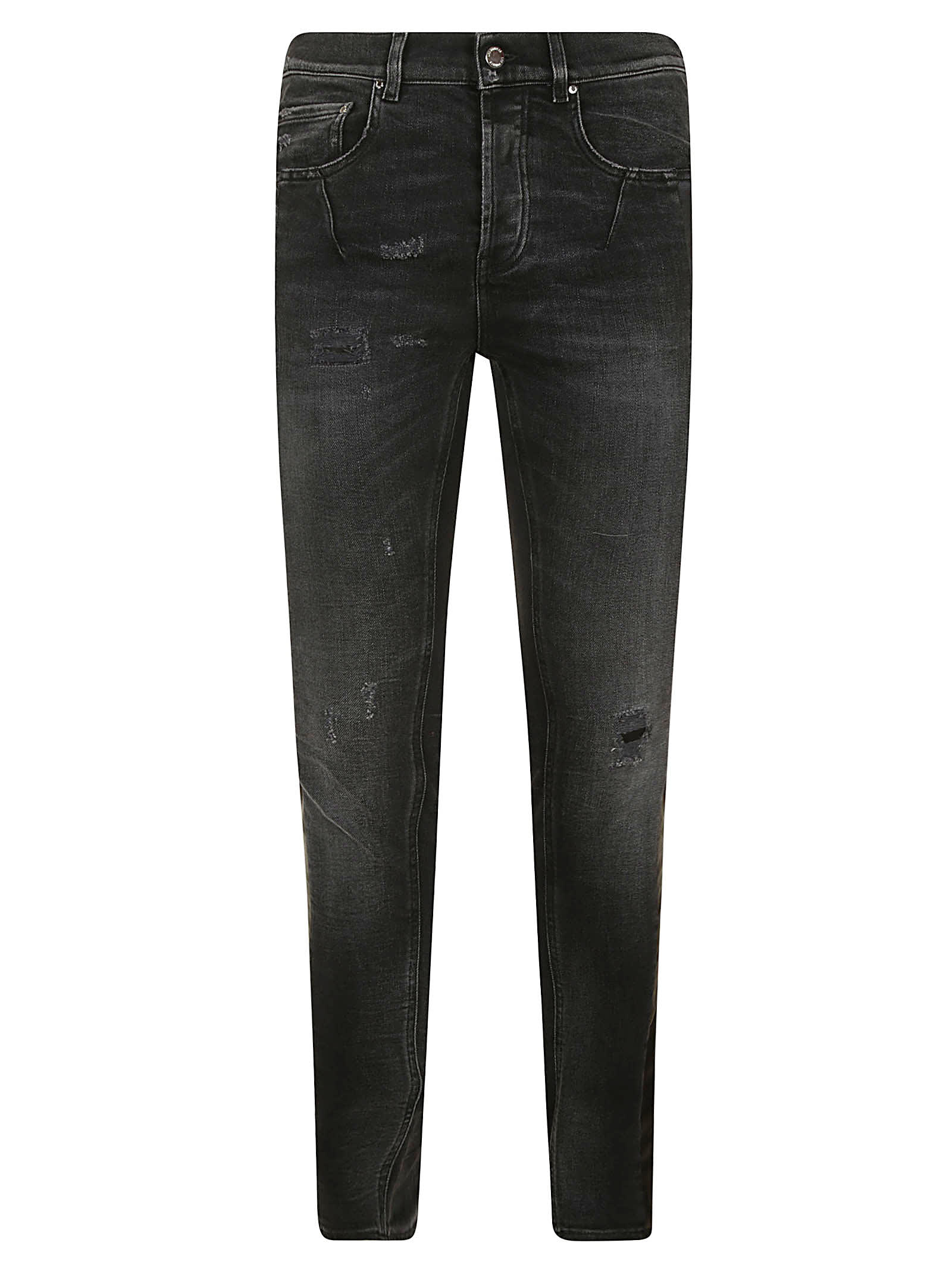 Les Hommes LEATHER BAND SLIM FIT JEANS