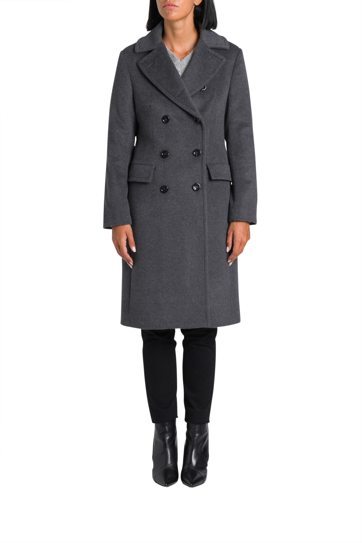 Harris Wharf London Long Military Coat