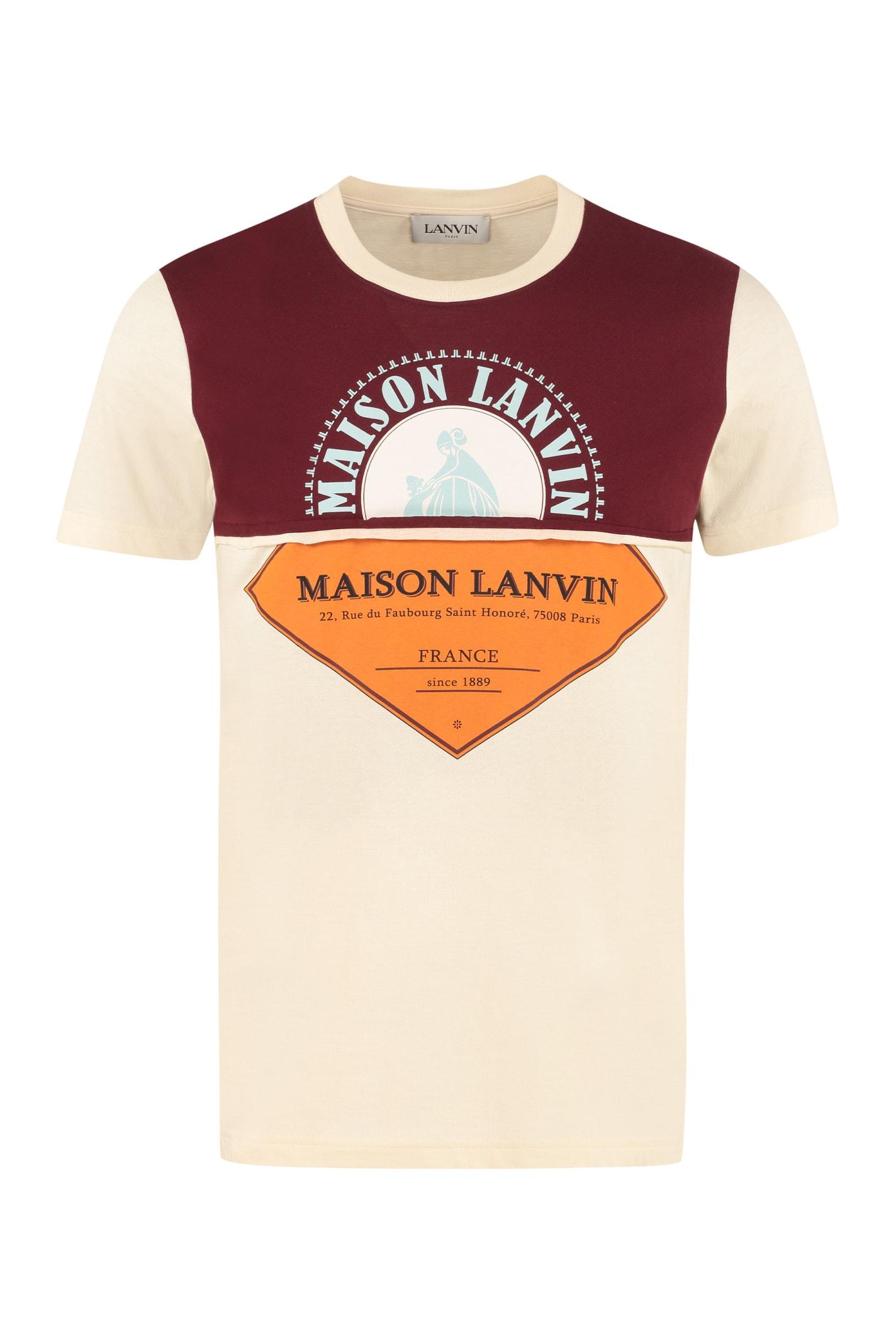 Lanvin Logo Print Cotton T-shirt