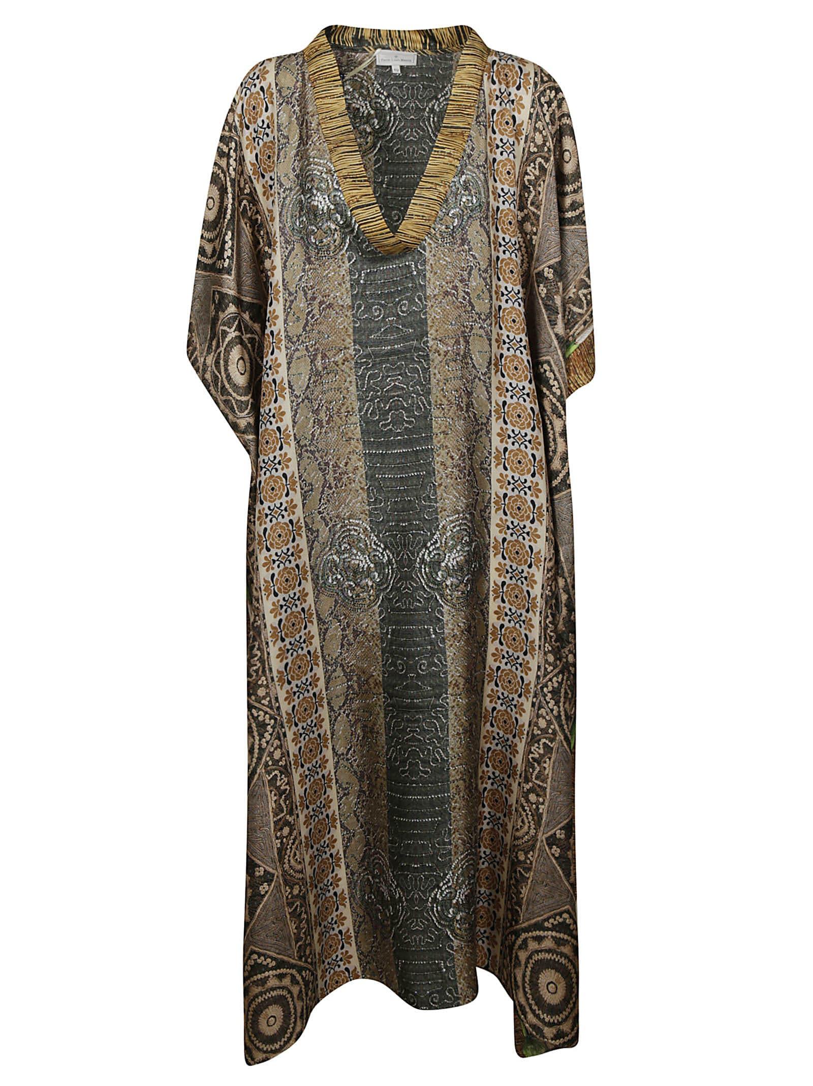 Buy Pierre-Louis Mascia V-neck Patterned Dress online, shop Pierre-Louis Mascia with free shipping