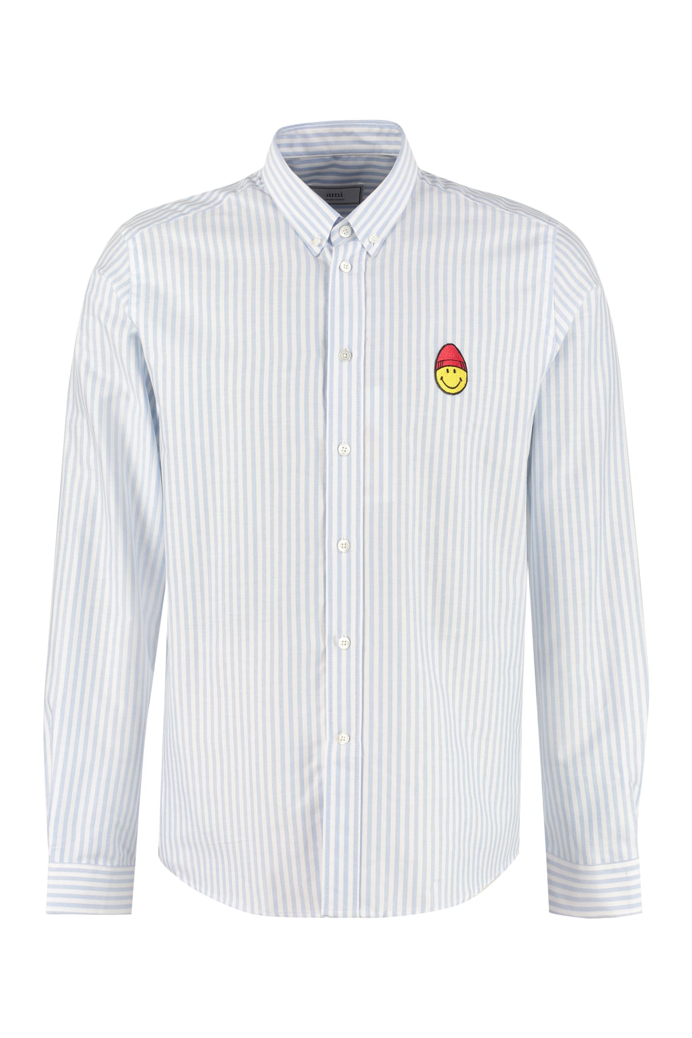 Ami Alexandre Mattiussi T-shirts STRIPED BUTTON-DOWN SHIRT