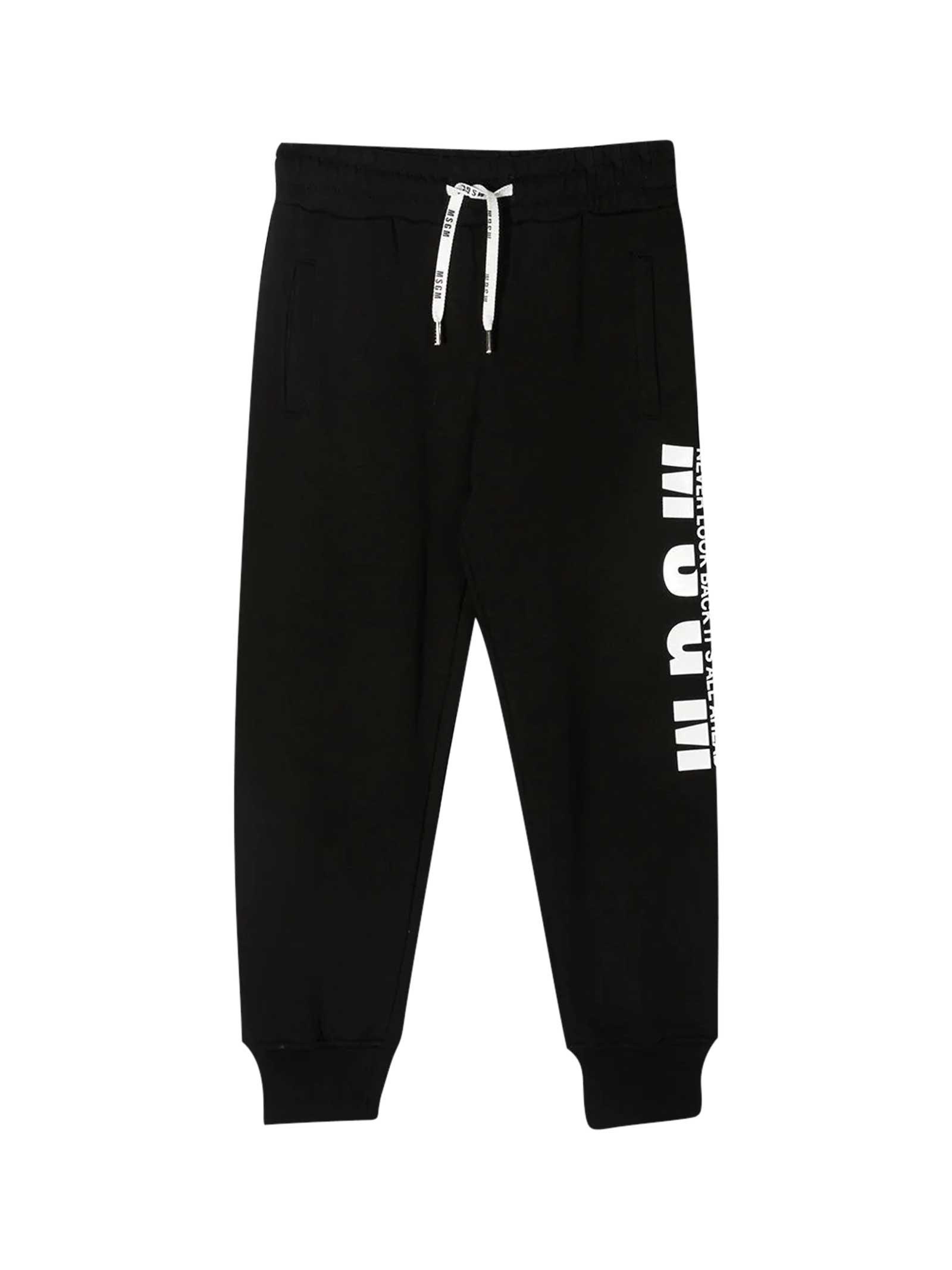Msgm Pants BLACK JOGGERS TEEN
