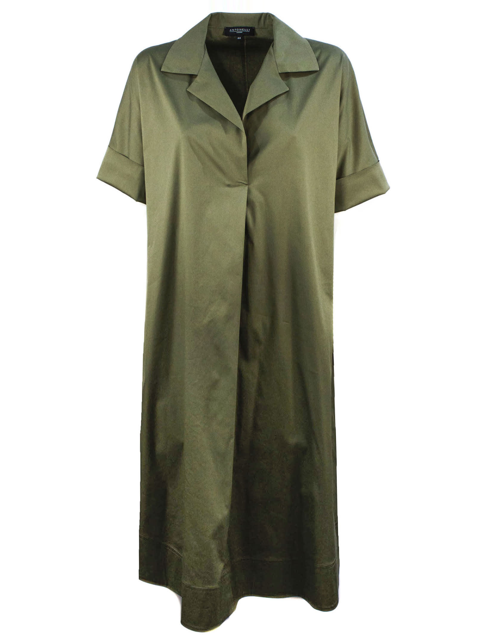 Buy Antonelli Maxi Dress In Green Cotton online, shop Antonelli with free shipping