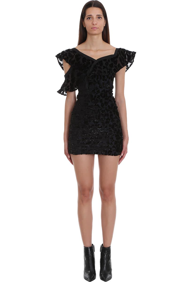 Buy self-portrait Dress In Black Viscose online, shop self-portrait with free shipping