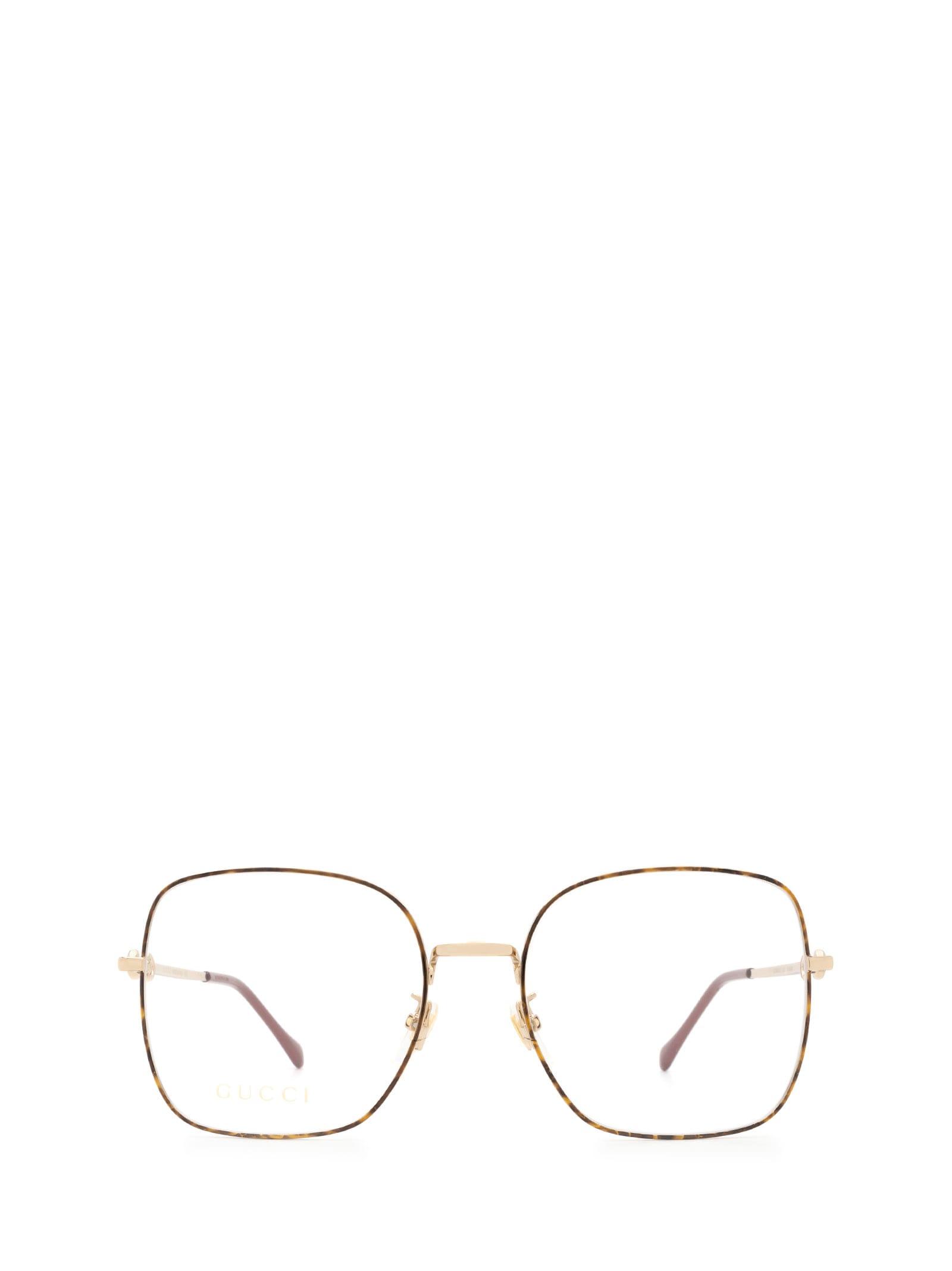 Gucci Opticals GG0883OA HAVANA & GOLD GLASSES
