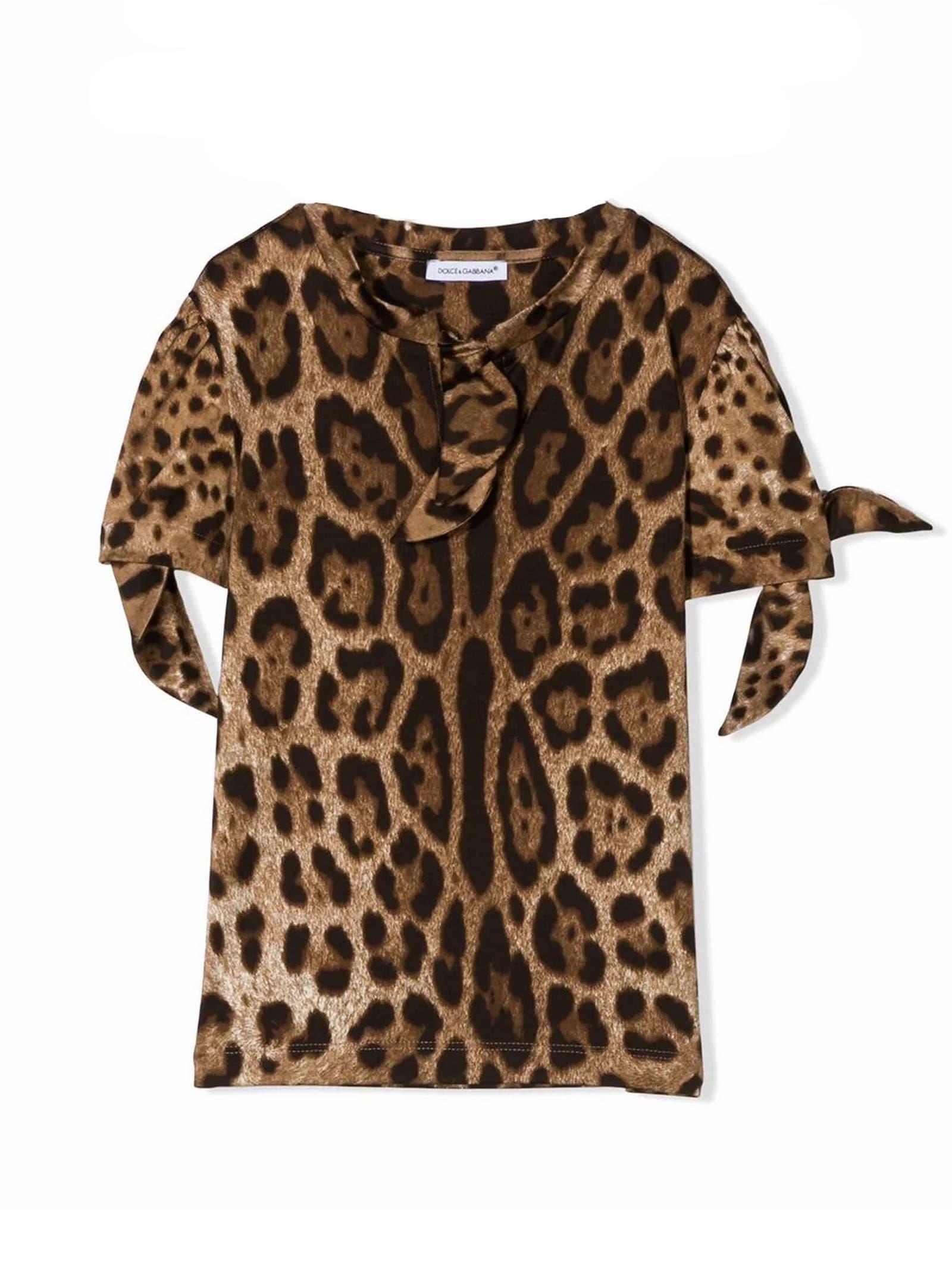Buy Dolce & Gabbana Brown Cotton Dress online, shop Dolce & Gabbana with free shipping