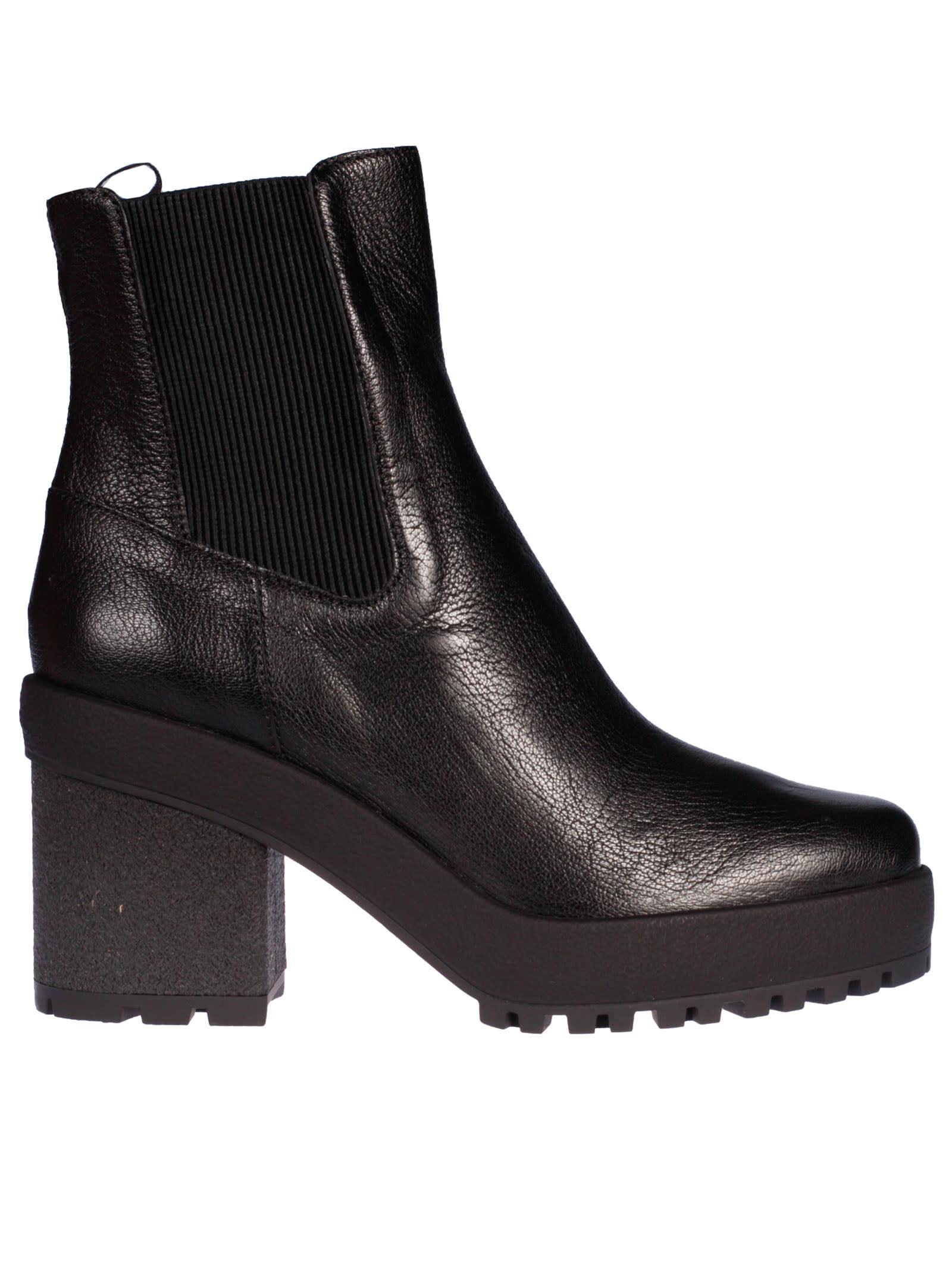 Hogan H475 Mid Heel Chelsea Boots In Black