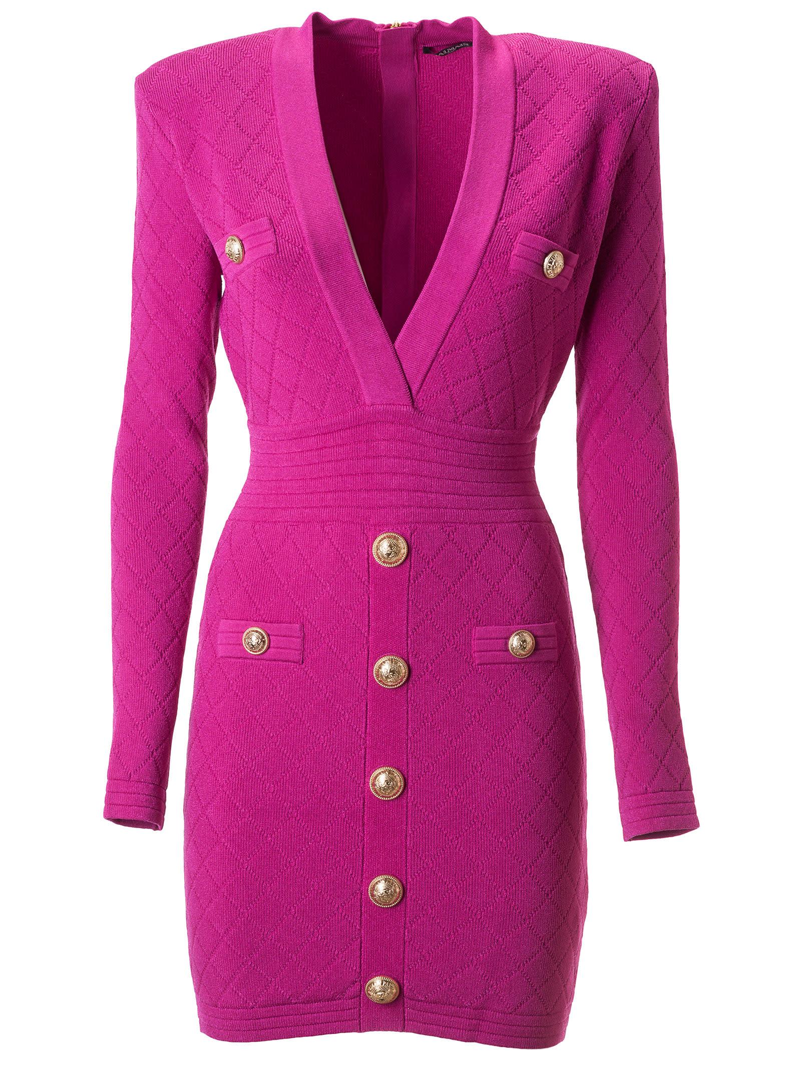 Balmain Buttoned Detail Dress