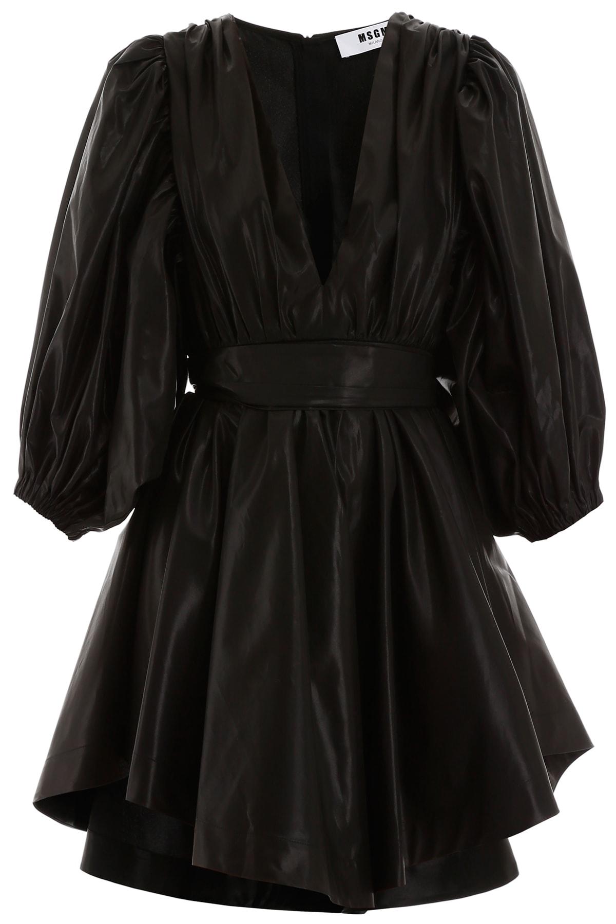Buy MSGM Taffeta Mini Dress online, shop MSGM with free shipping
