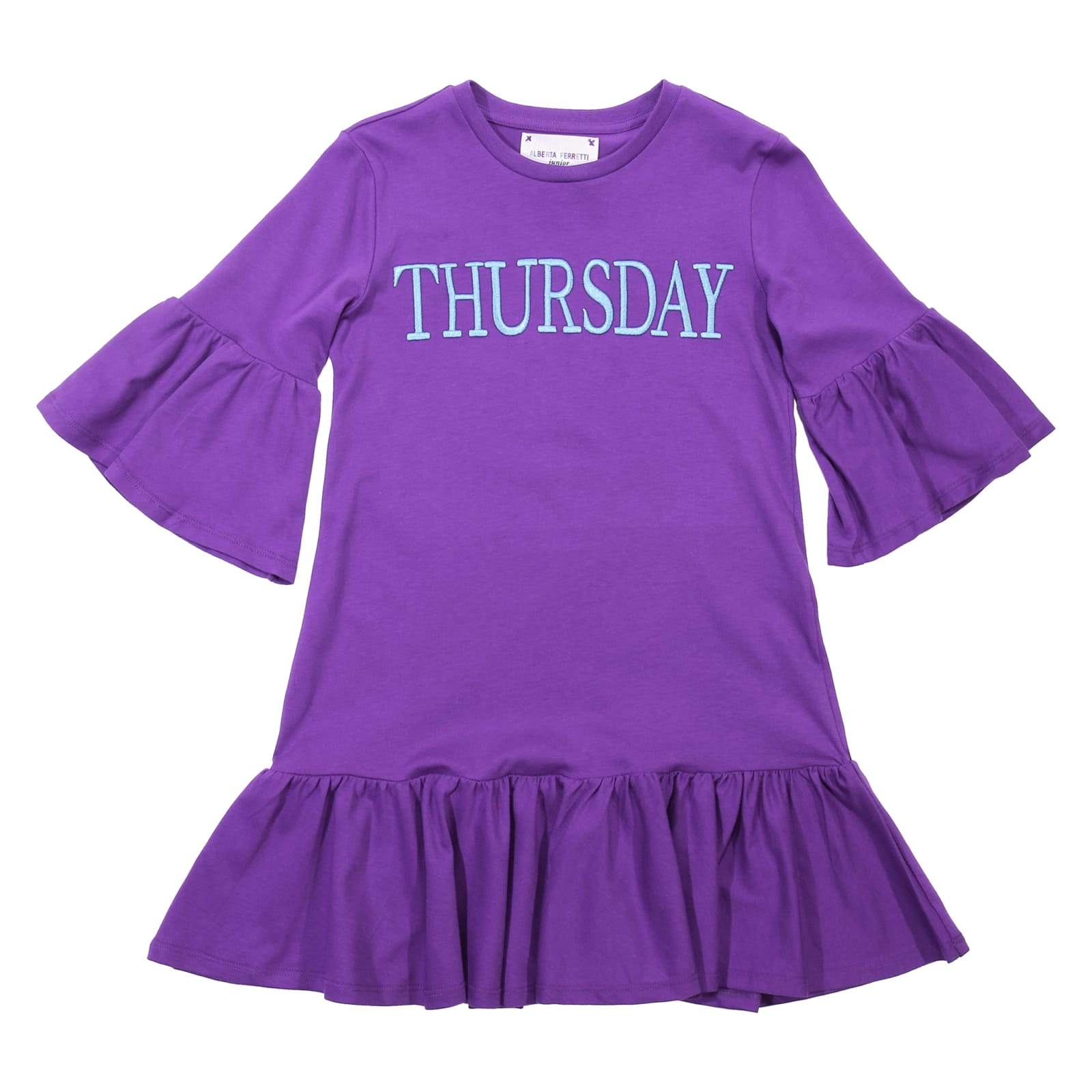 Alberta Ferretti Thursday Violet Cotton Dress