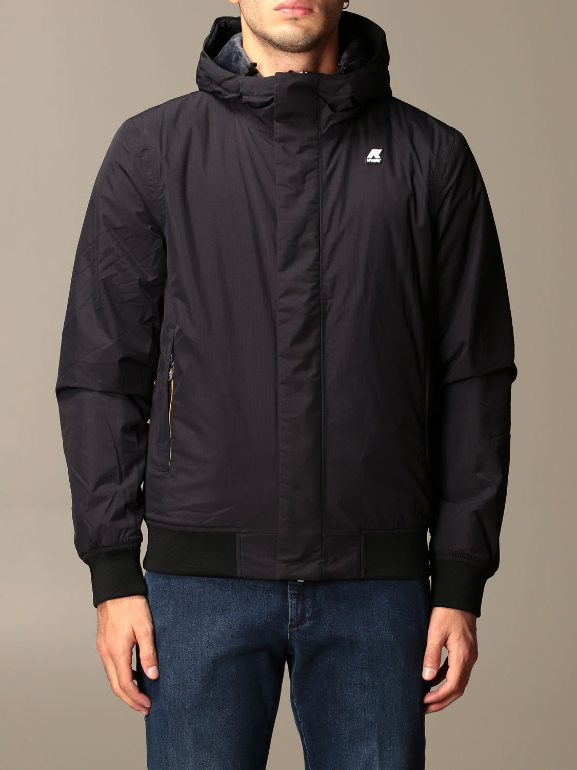 K-way Jacket Justin Ripstop Marmot  Jacket With Hood In Black