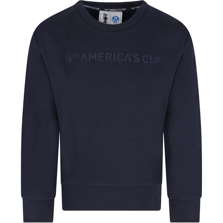 Prada Blue Sweatshirt For Kids With Patch