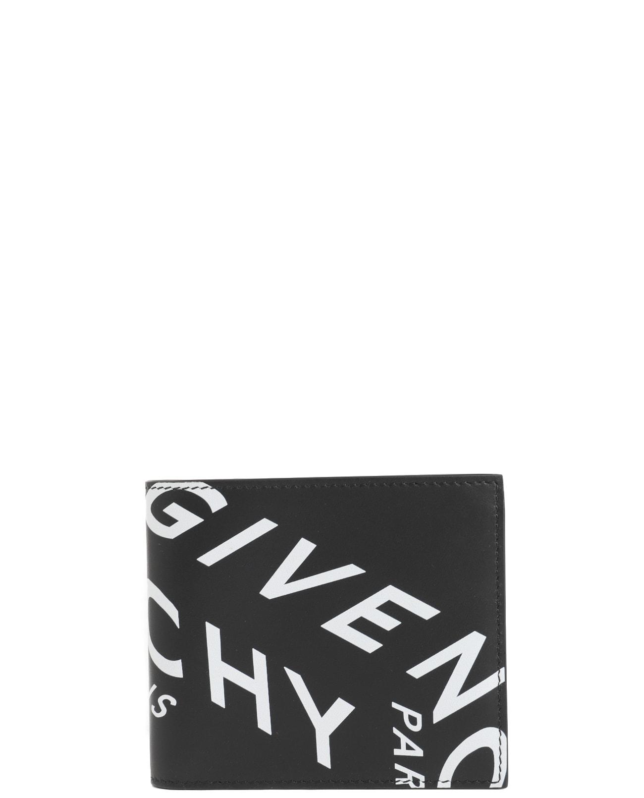 Givenchy Black Billfold Wallet In Nero/bianco