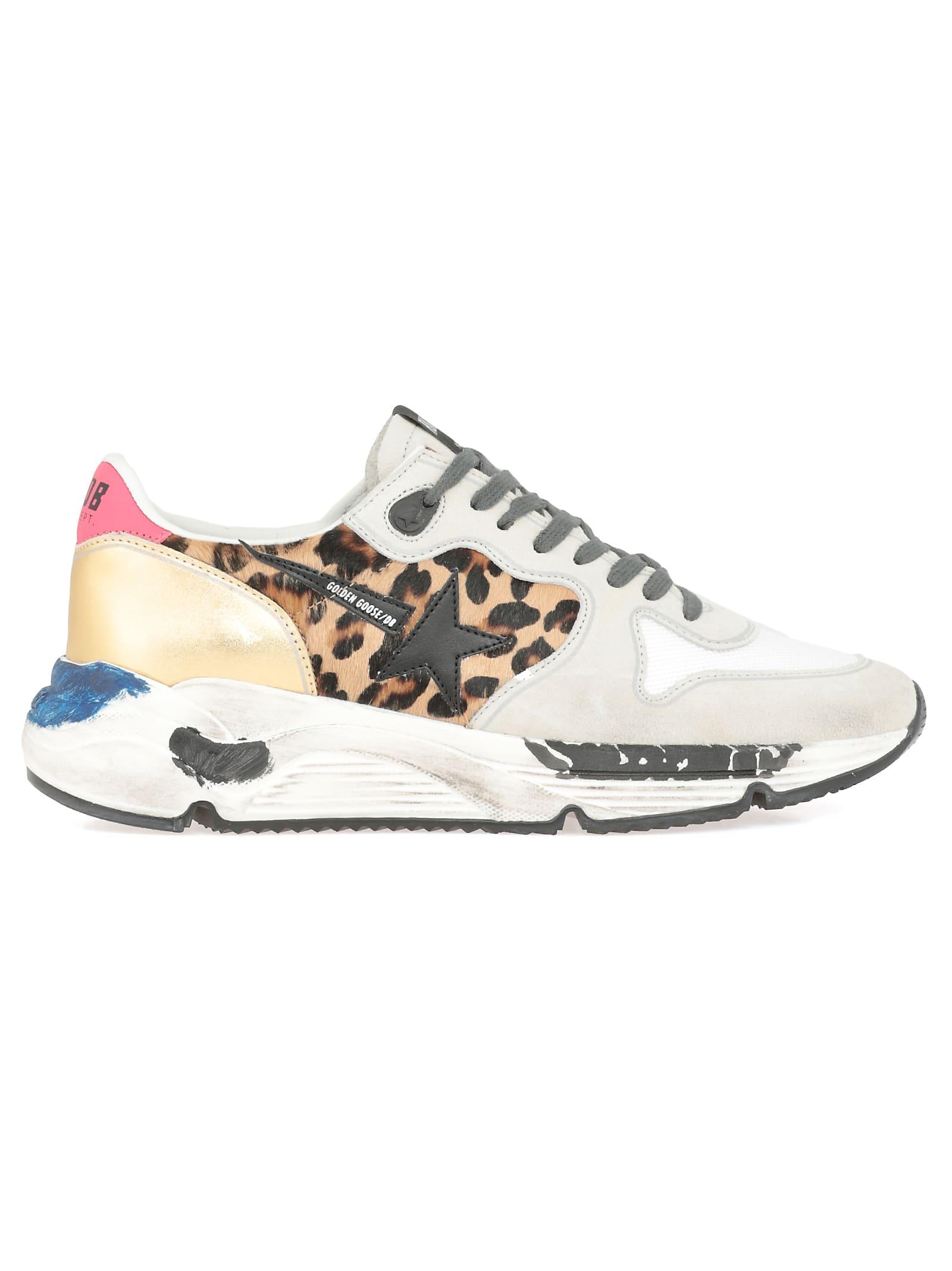 Golden Goose Sneaker Running Sole In Oxy Leopard-Blackstar