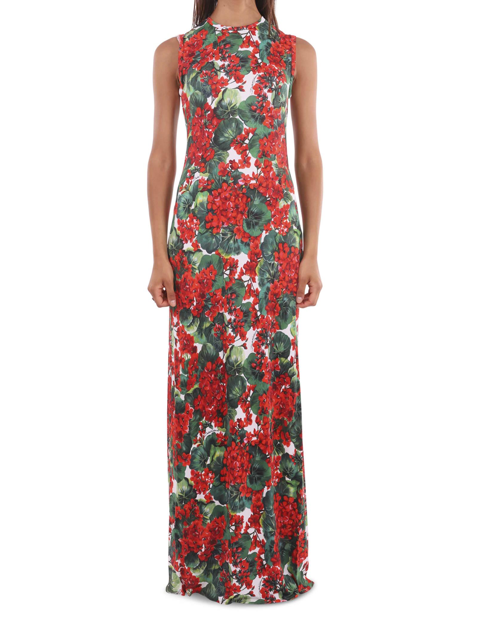 Dolce & Gabbana Long Geranium Dress