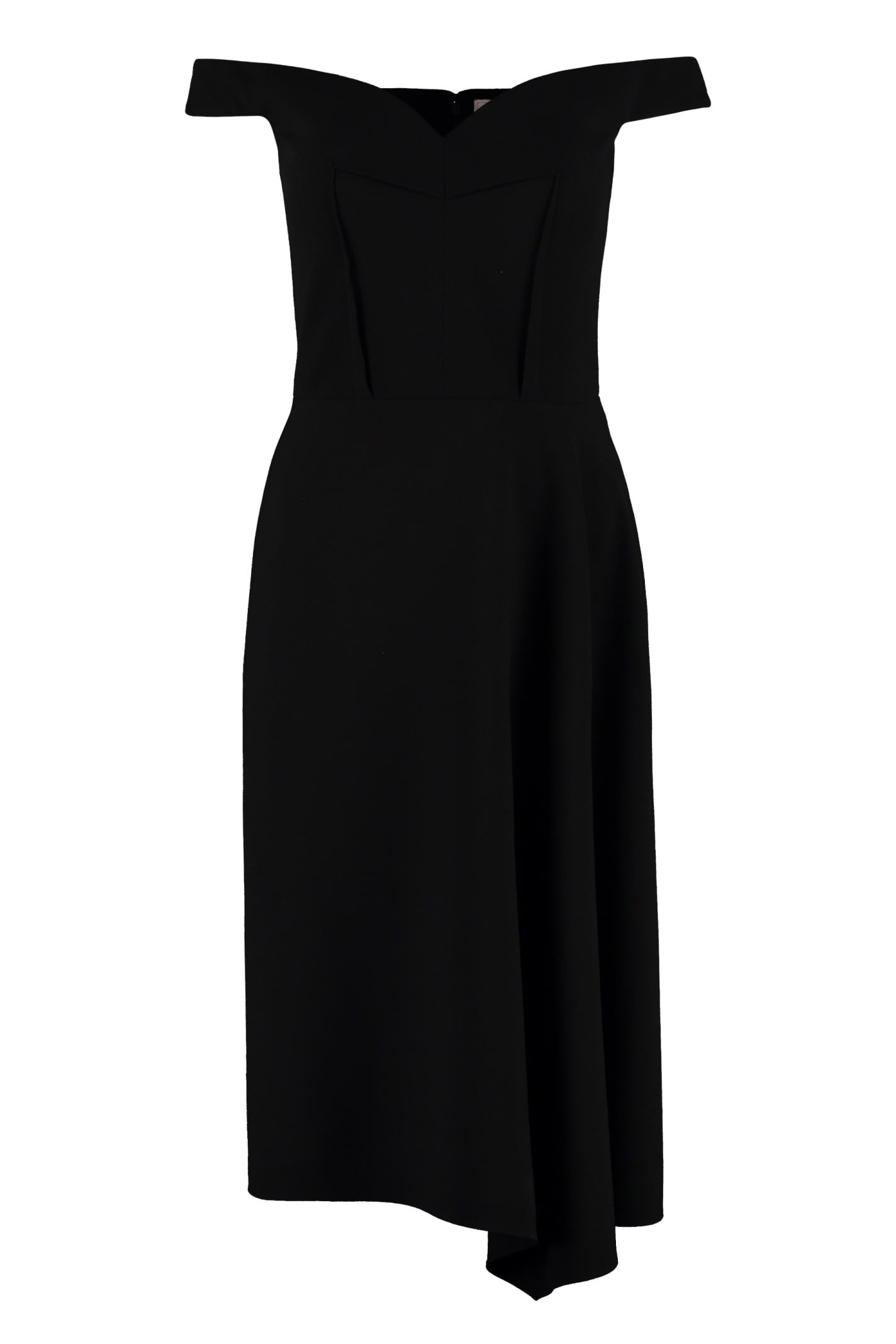 Alexander McQueen Wool Crepe Dress