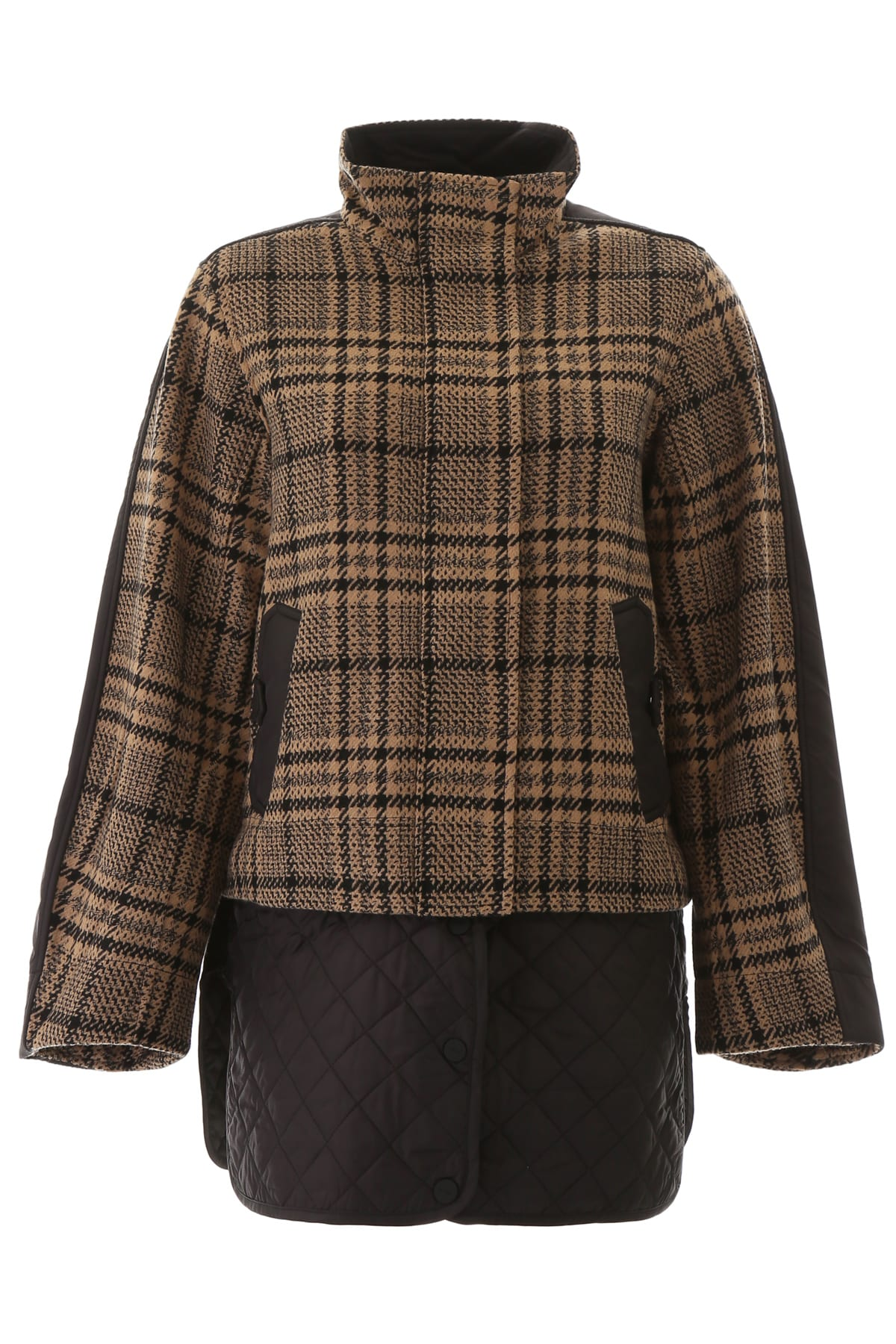 Photo of  Ganni Tartan Wool Jacket- shop Ganni jackets online sales