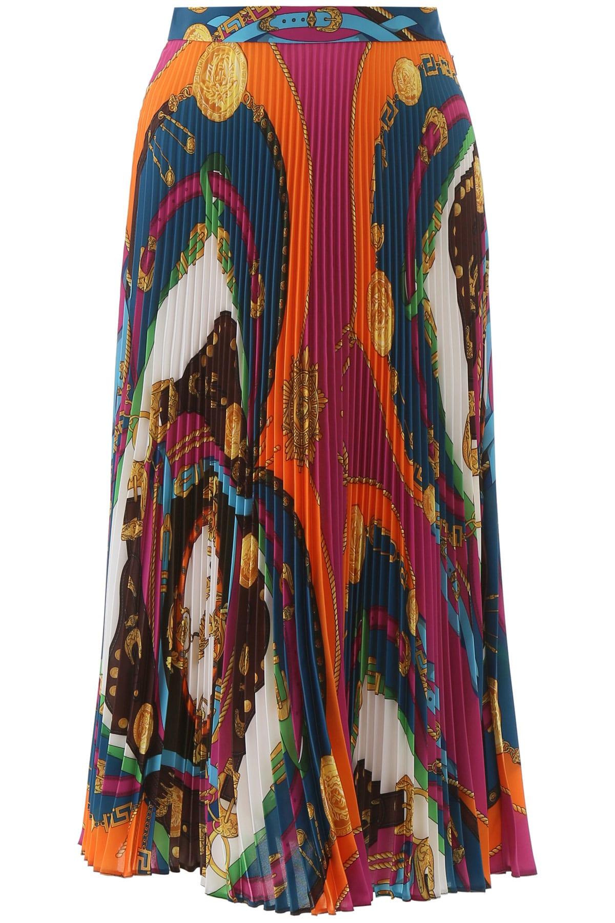 Versace Skirts BAROCCO RODEO PRINT PLEATED SKIRT