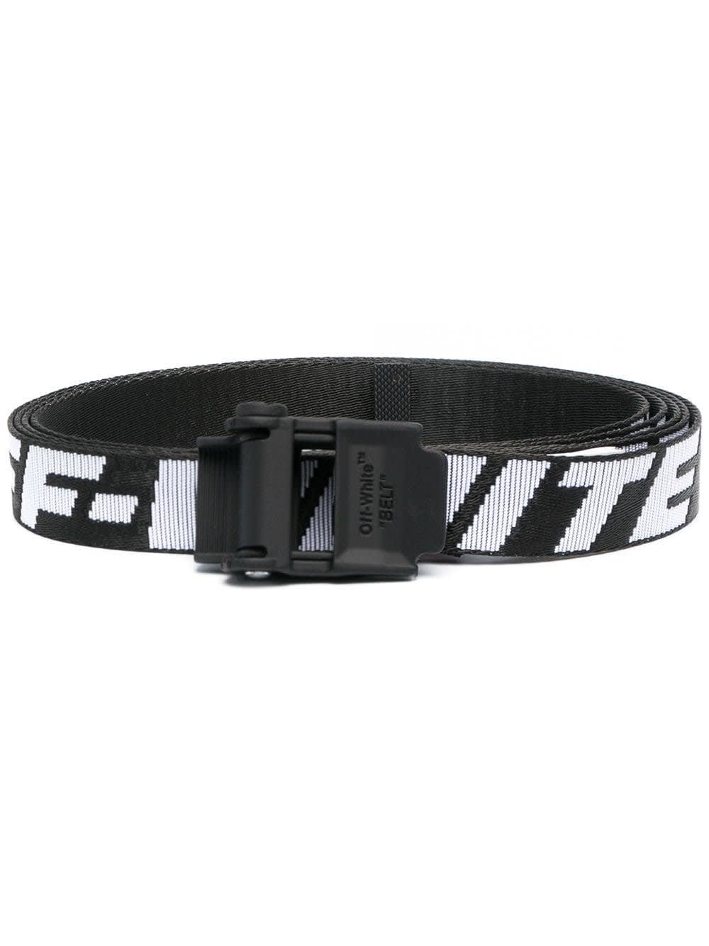 Off-White Belts INDUSTRIAL BELT IN BLACK AND WHITE NYLON