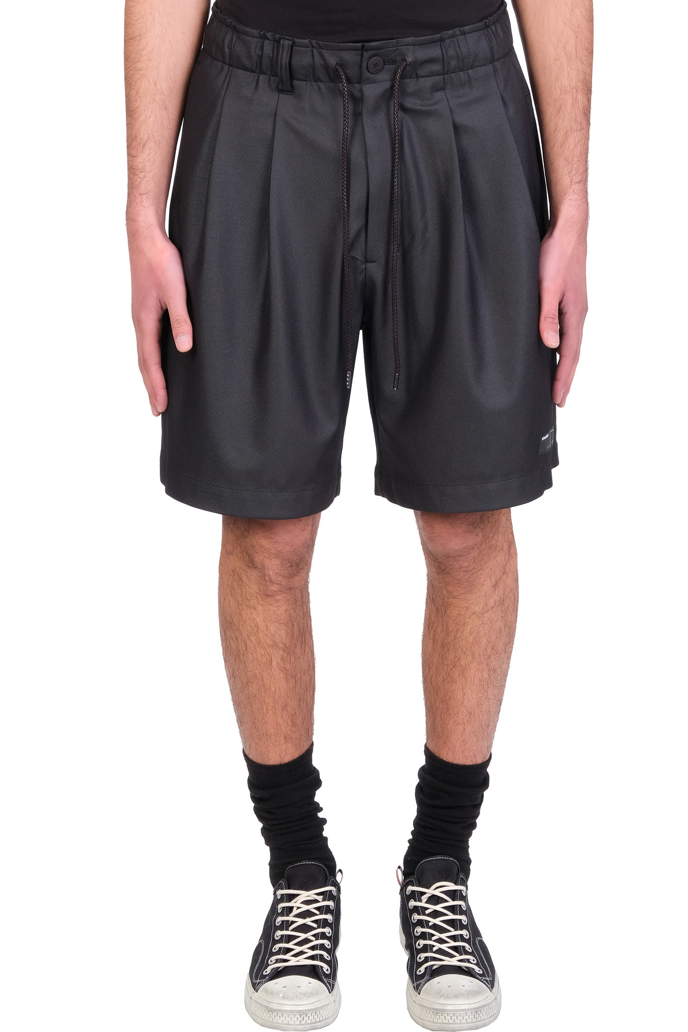 Shorts In Black Polyester