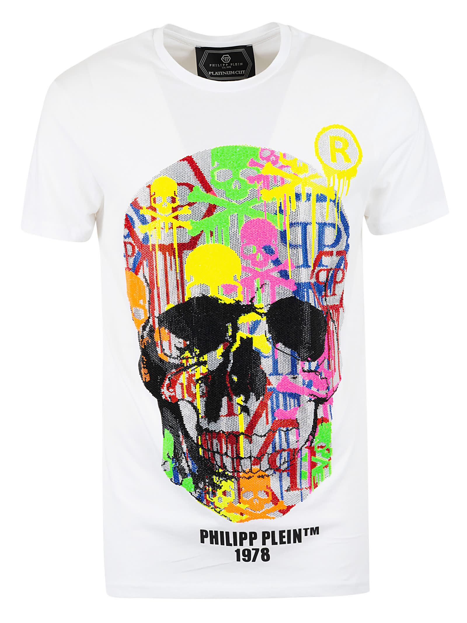 Philipp Plein Skull Strass Round Neck T-shirt
