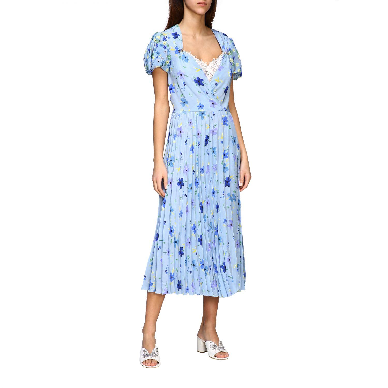 Buy Ermanno Scervino Dress Ermanno Scervino Dress In Floral Patterned Silk online, shop Ermanno Scervino with free shipping