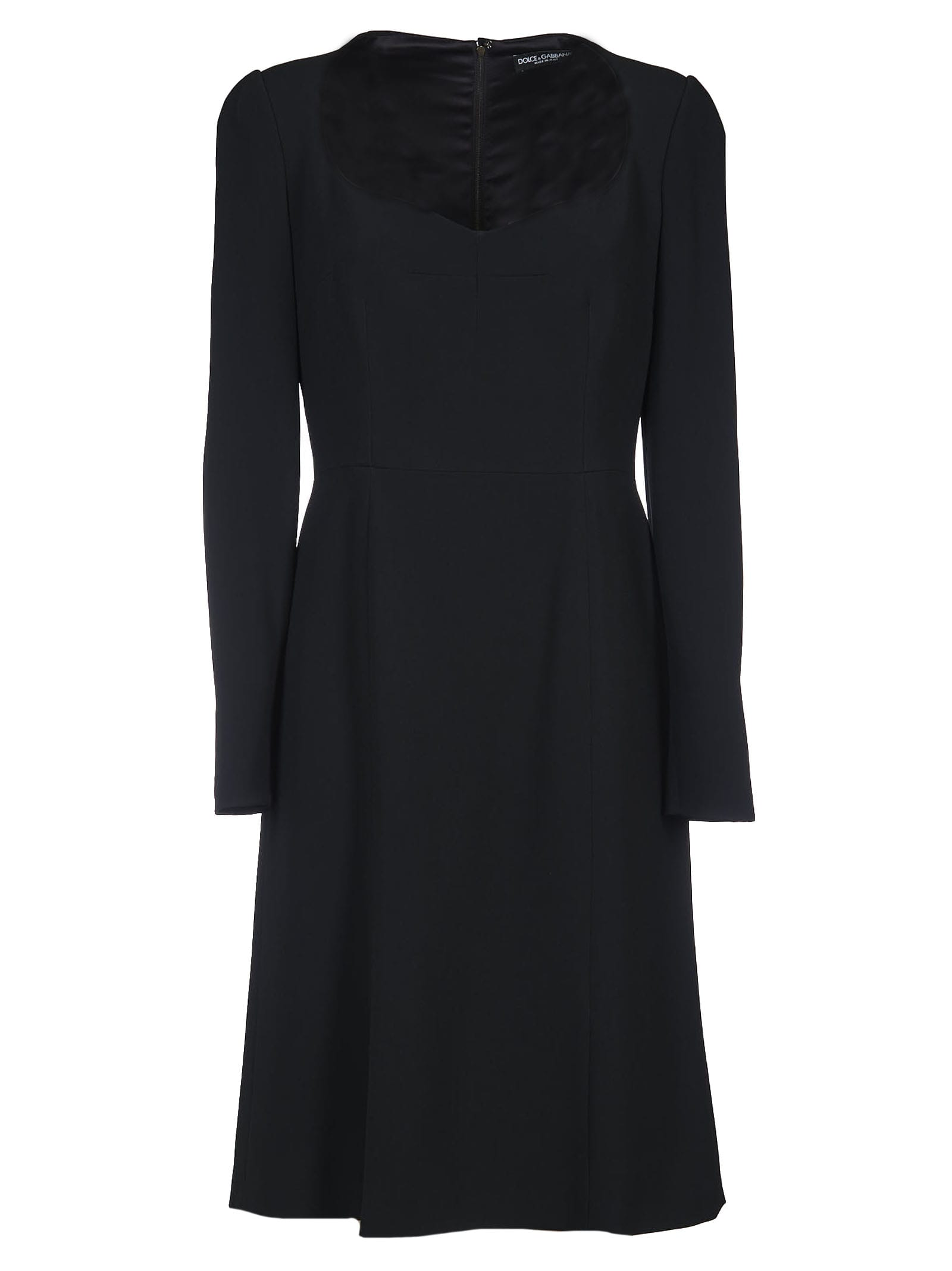 Buy Dolce & Gabbana Large Round Neck Dress online, shop Dolce & Gabbana with free shipping