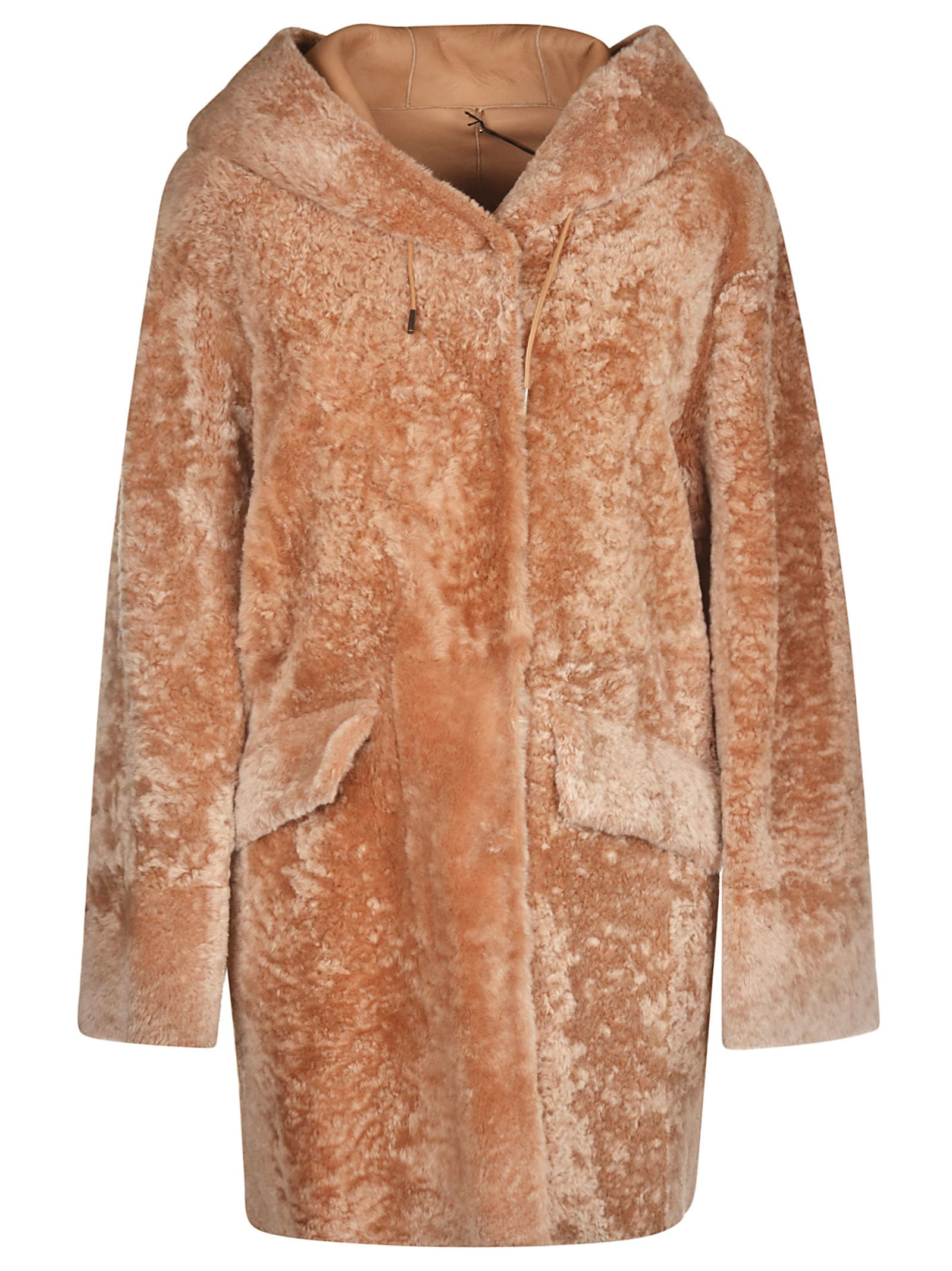 DROMe Fur Applique Hooded Jacket