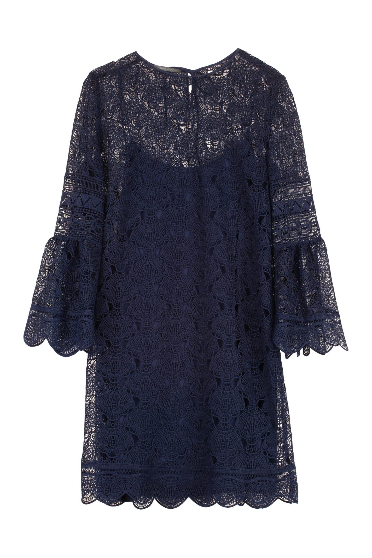 Buy Alberta Ferretti Floral Macramé-lace Dress online, shop Alberta Ferretti with free shipping