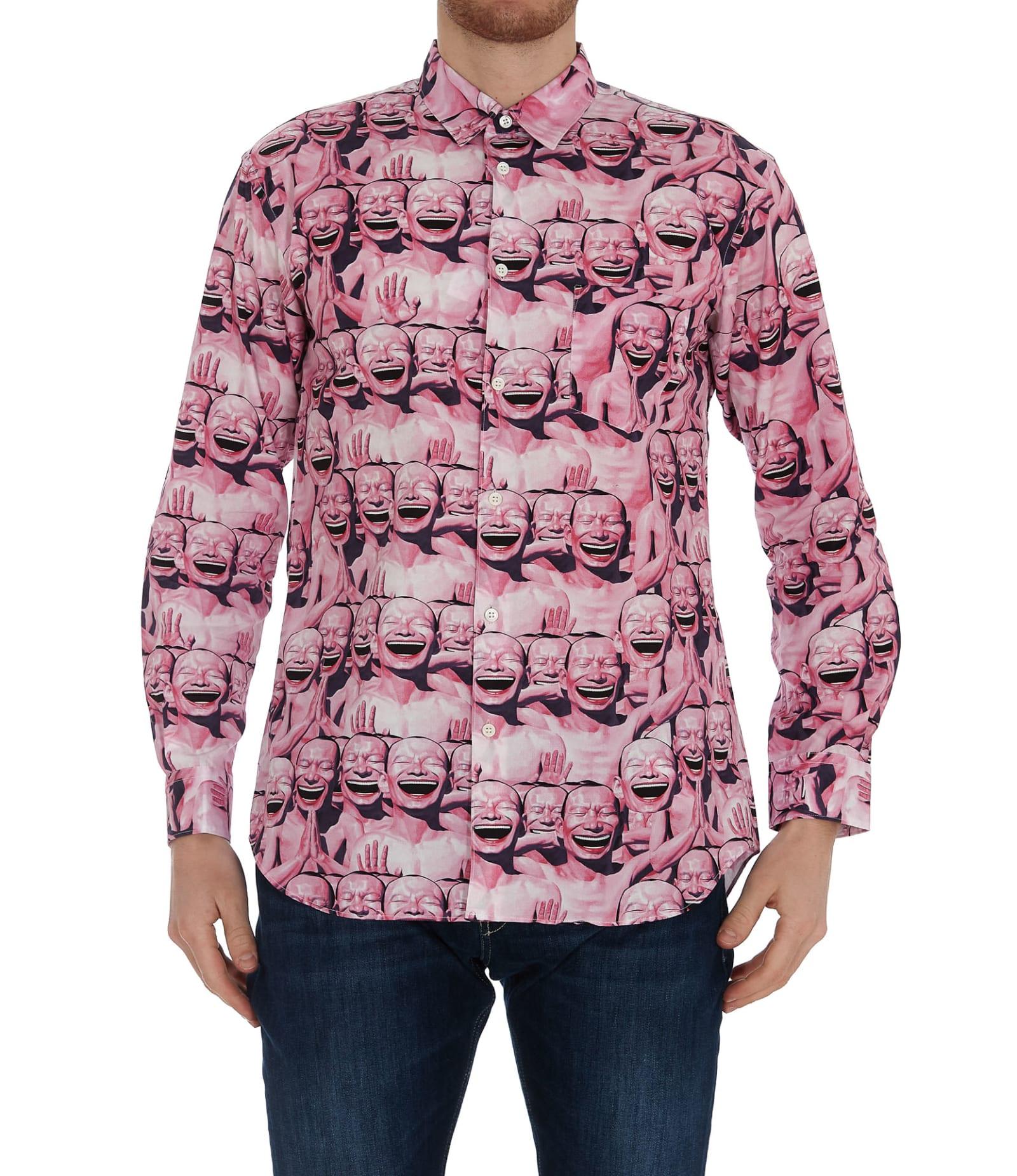 Comme Des Garçons Shirt Clothing COMME DES GARÇONS SHIRT TUE MINJUN PRINT SHIRT