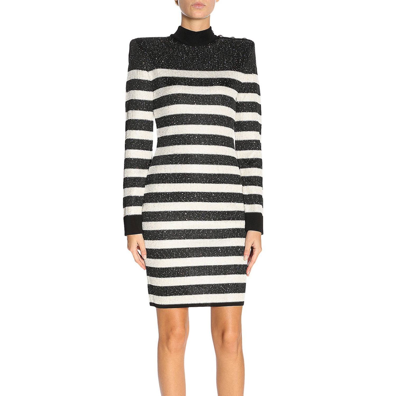 Buy Balmain Dress Dress Women Balmain online, shop Balmain with free shipping