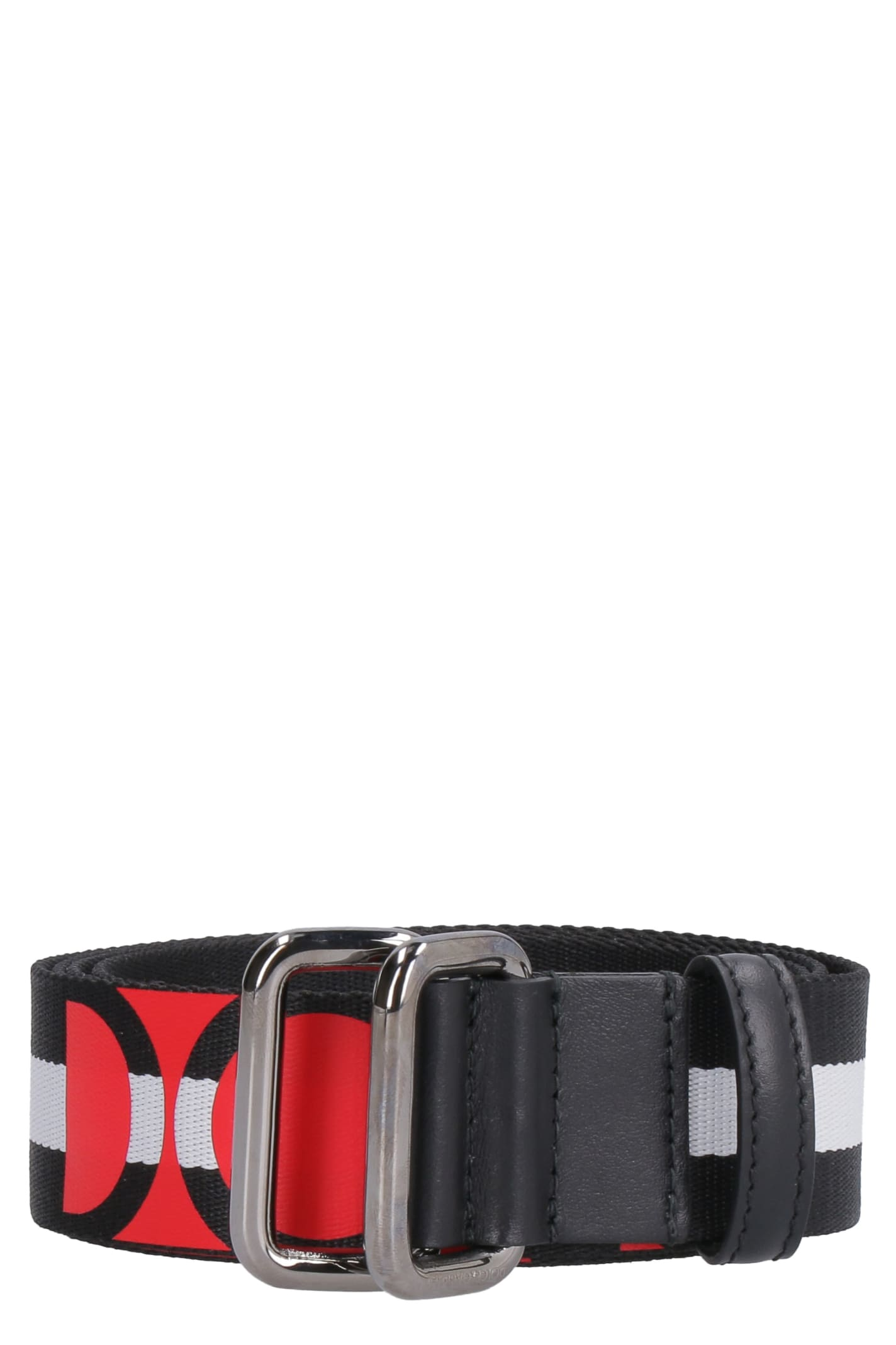Dolce & Gabbana Striped Nylon Belt
