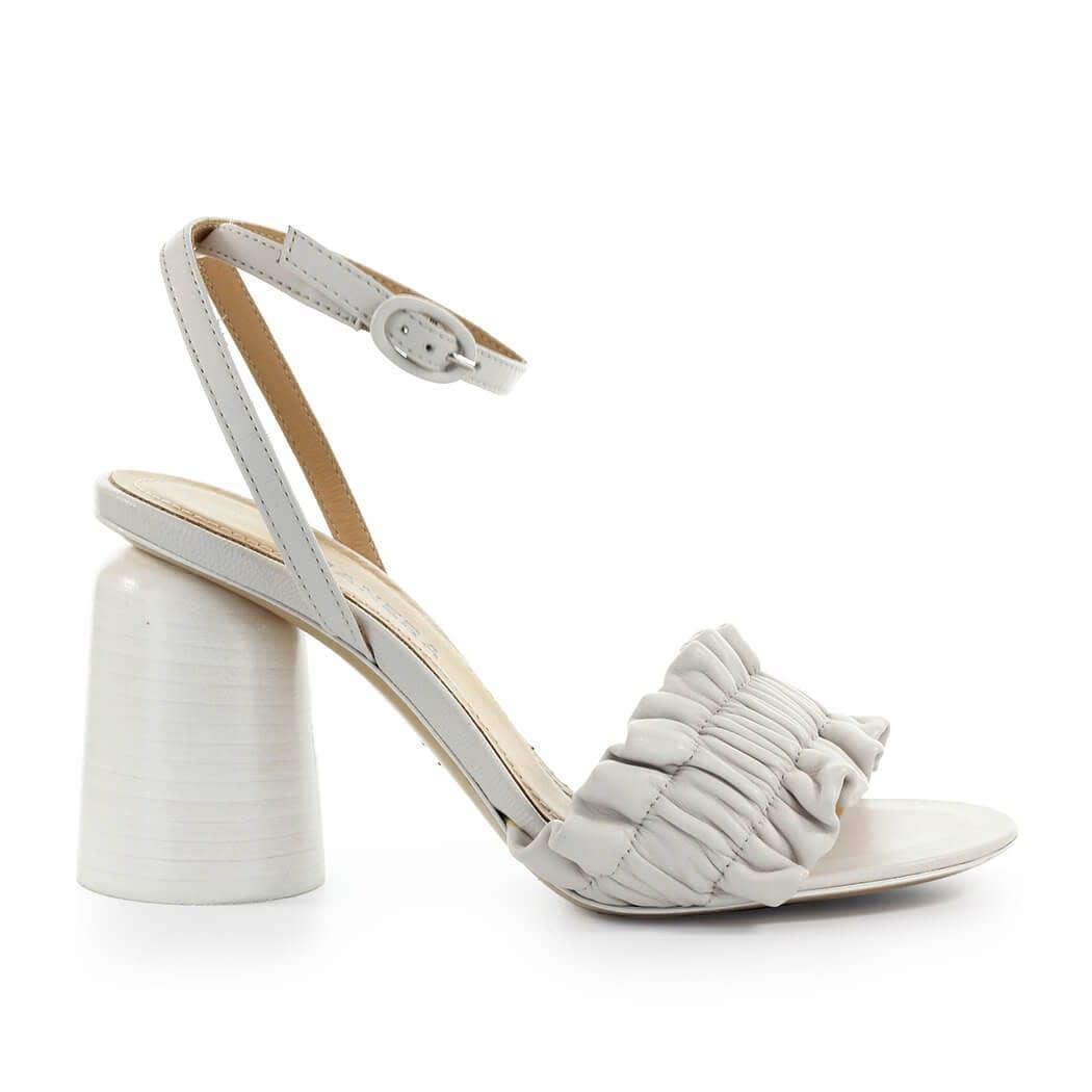 Brigit White Heeled Sandal