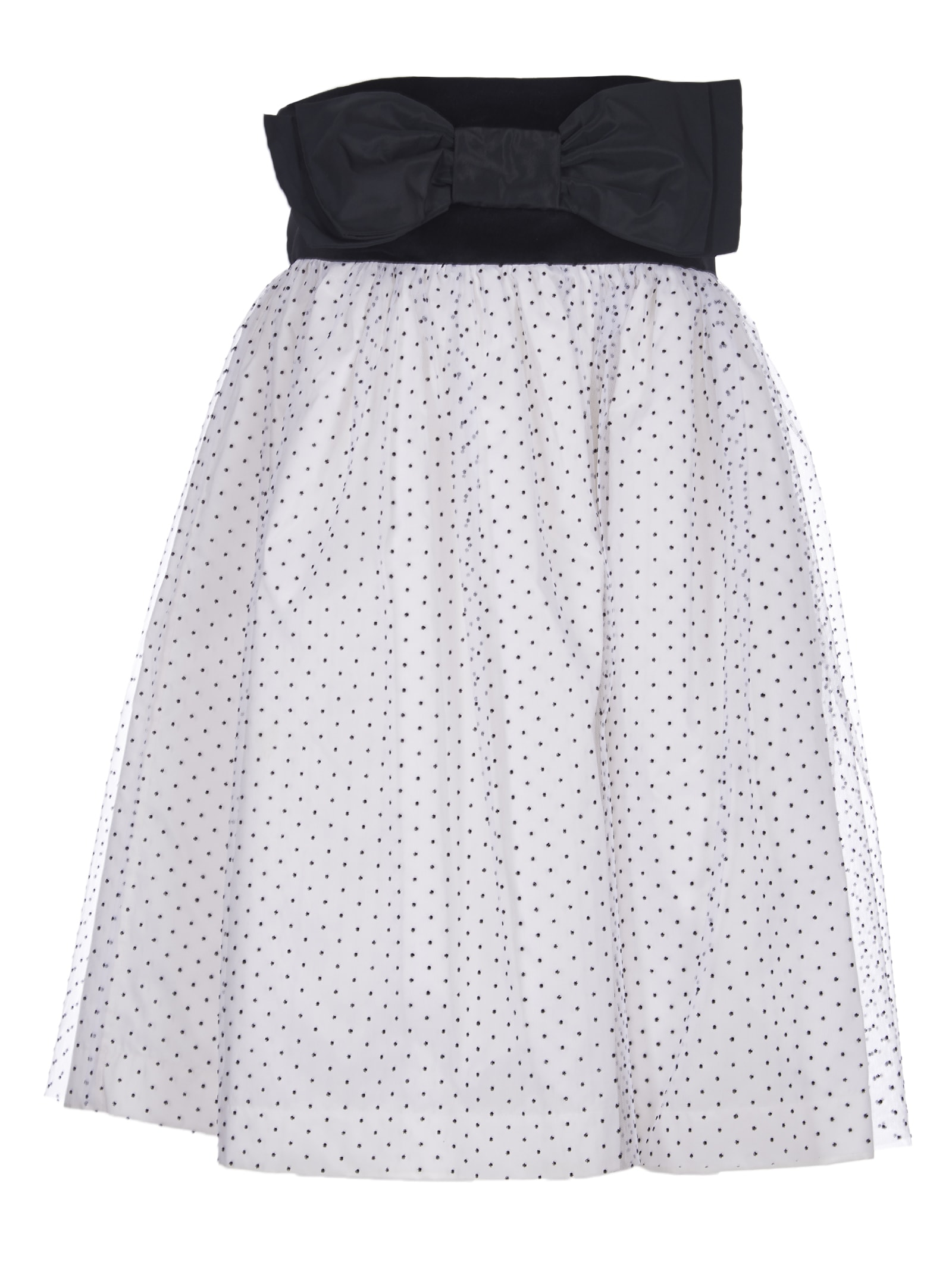 Brognano Dress With Bow And Tulle Skirt
