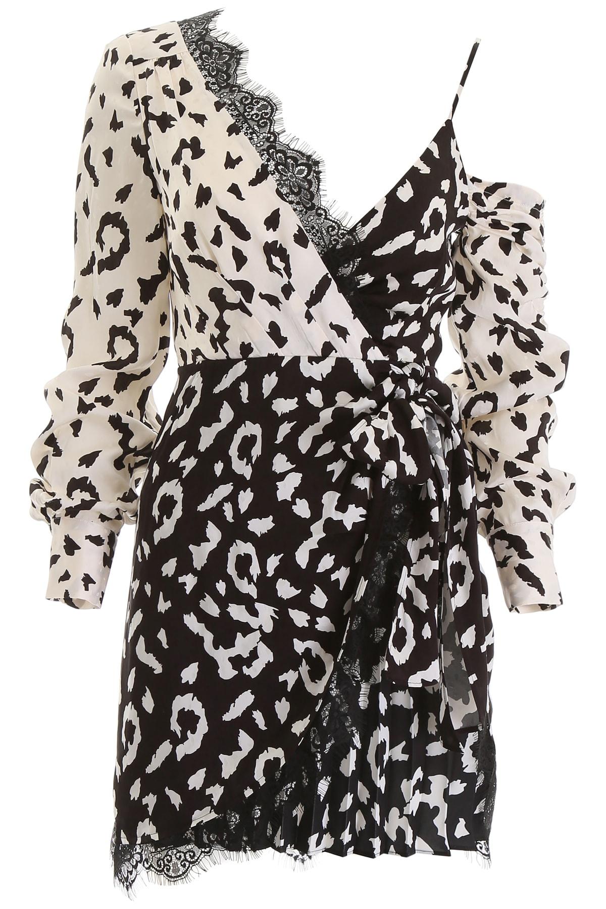 self-portrait Leopard Printed Mini Dress