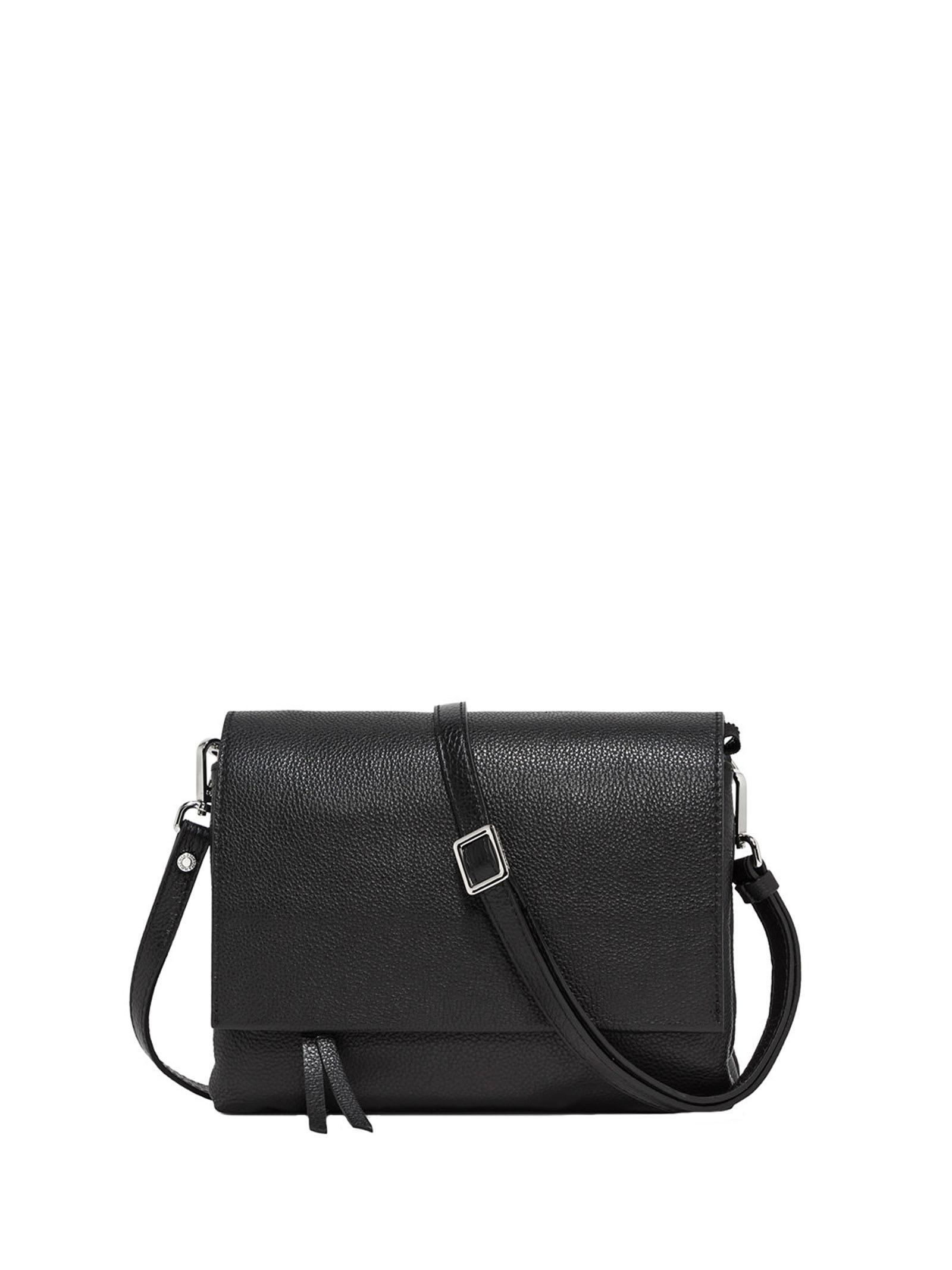 Shoulder Bag In Black Leather